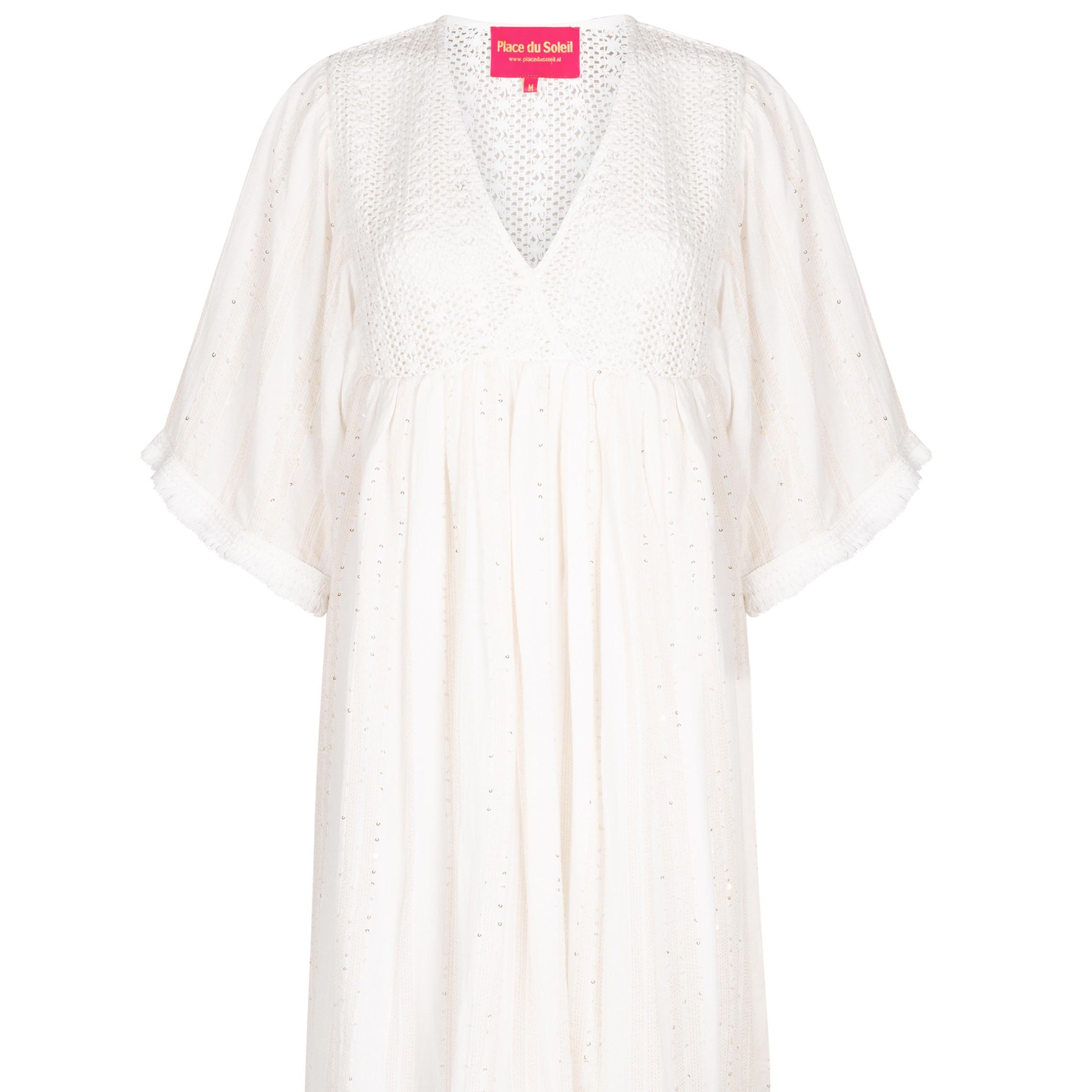 """Dress """"White paillets"""""""