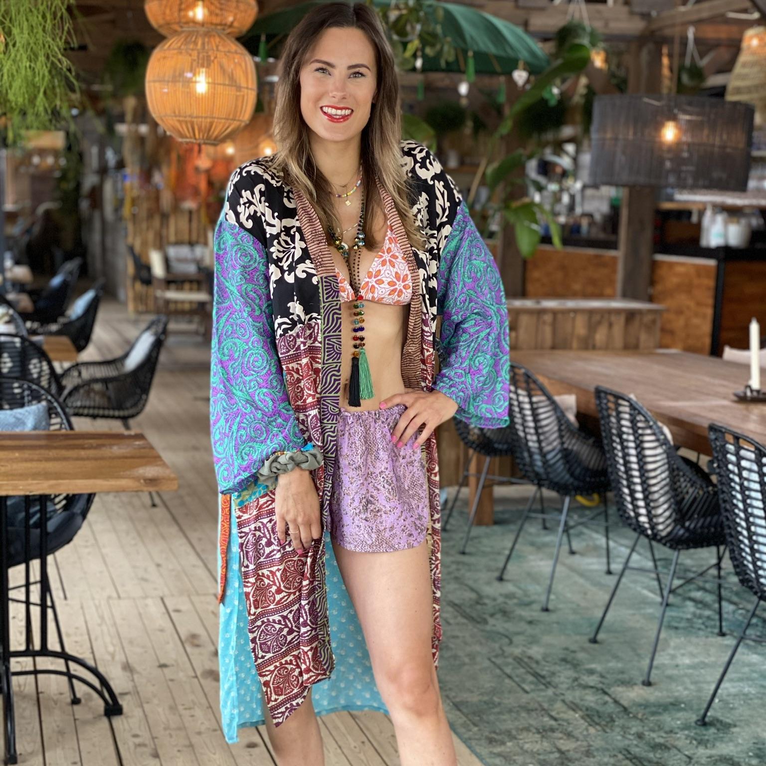 """Vintage Silk Kimono """"Mix"""""""