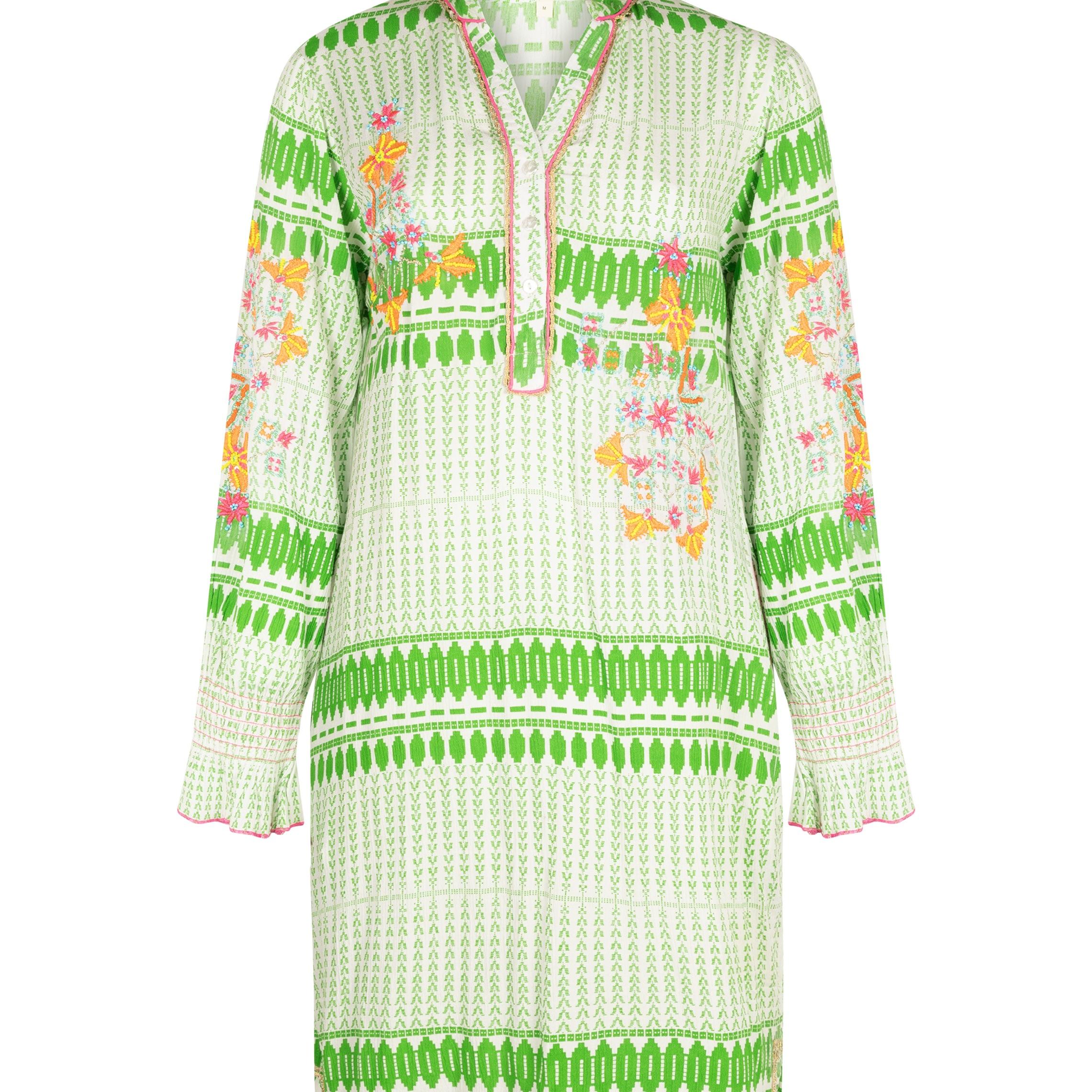 "Dress "" Green white"""
