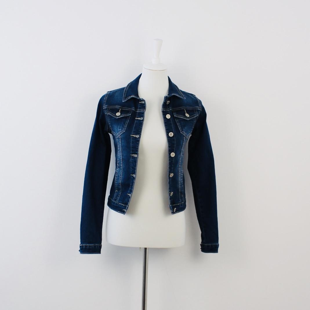 Jeansjacke dunkelblau