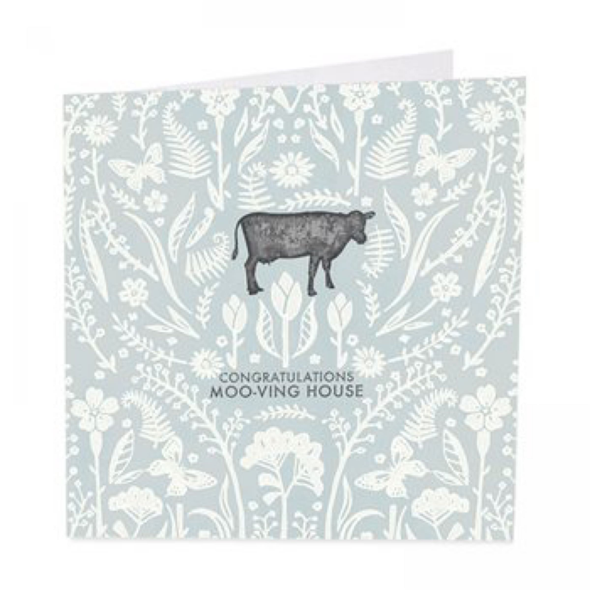 Congratulations Moo-ving house card. New home card by art beat
