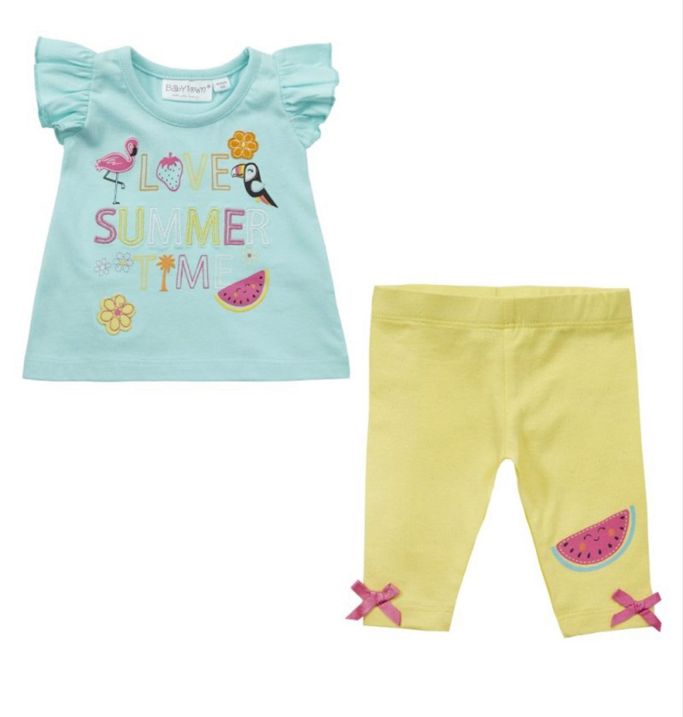 Love Summer Time top and leggings set
