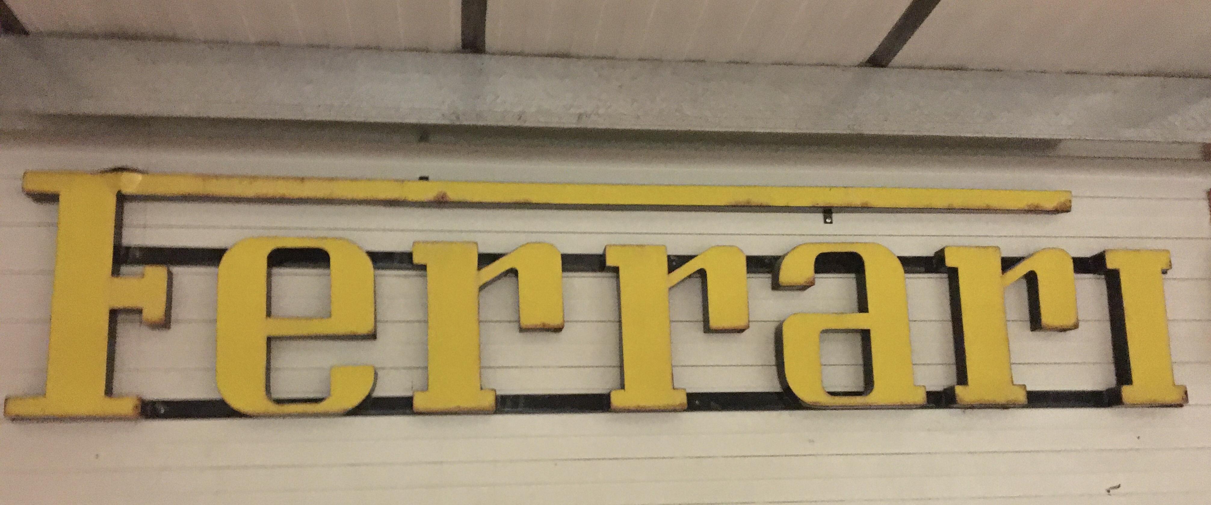"Ferrari Exterior Sign ""Vintage"""
