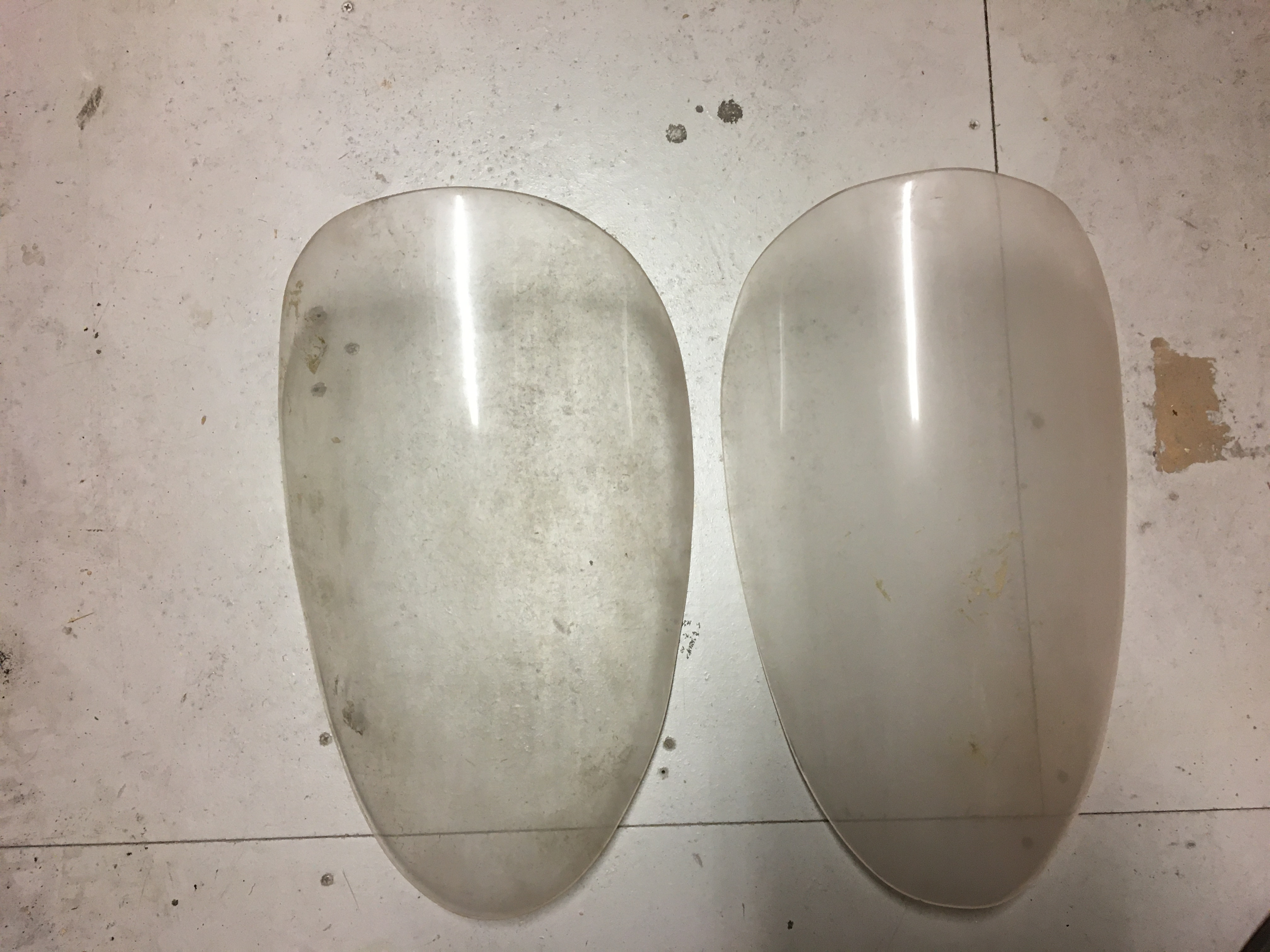 Dino 246 GT/GTS Front Headlight Plexi Cover Set