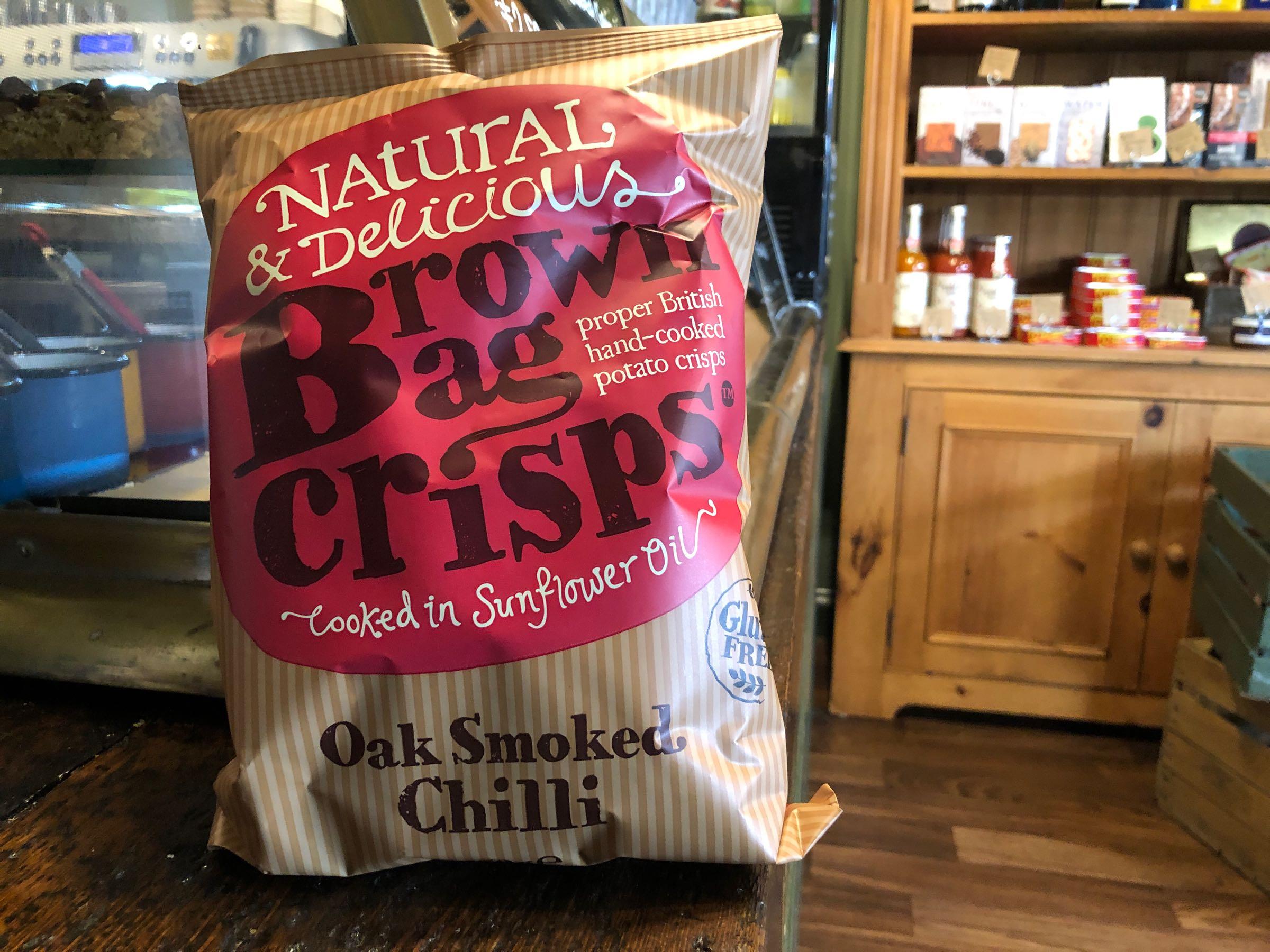 Brown Bag Crisps Oak Smoked Chilli 150g