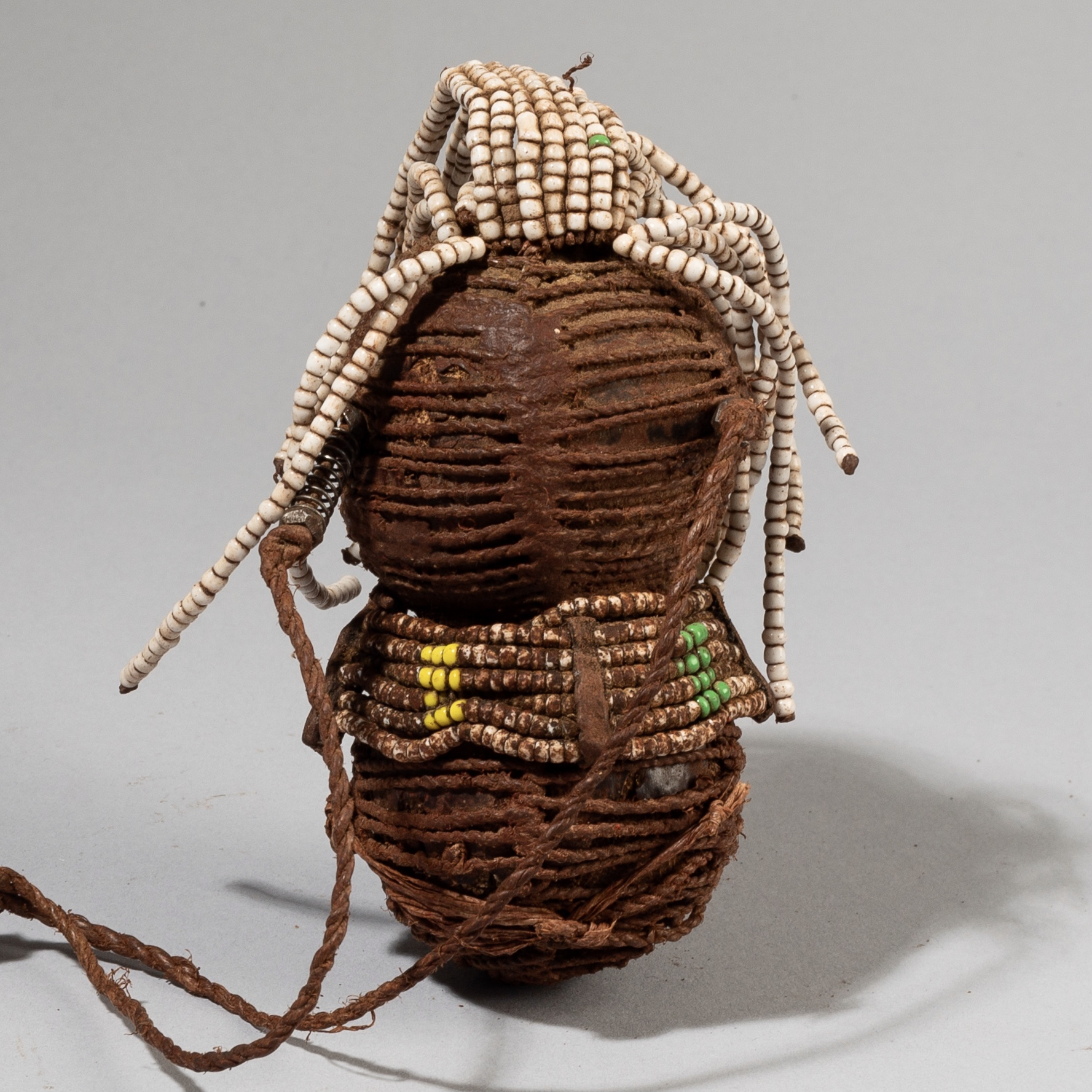 A SWEET DOLL WITH GLASS BEAD DECORATION, HIMBA TRIBE NAMIBIA ( No 3881)