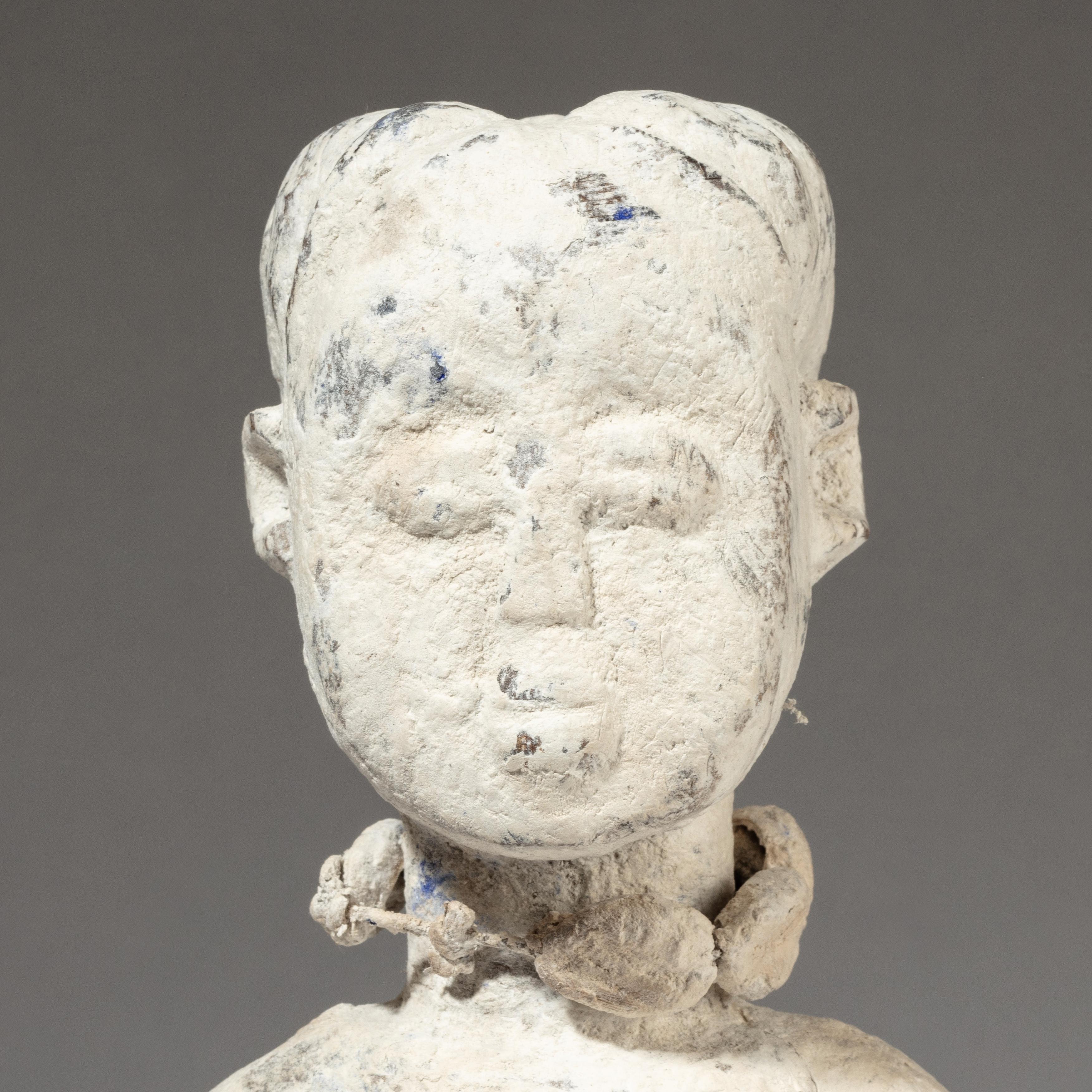 A KAOLIN ENCRUSTED ALTAR FIGURE, EWE TRIBE GHANA ( No 3413 )