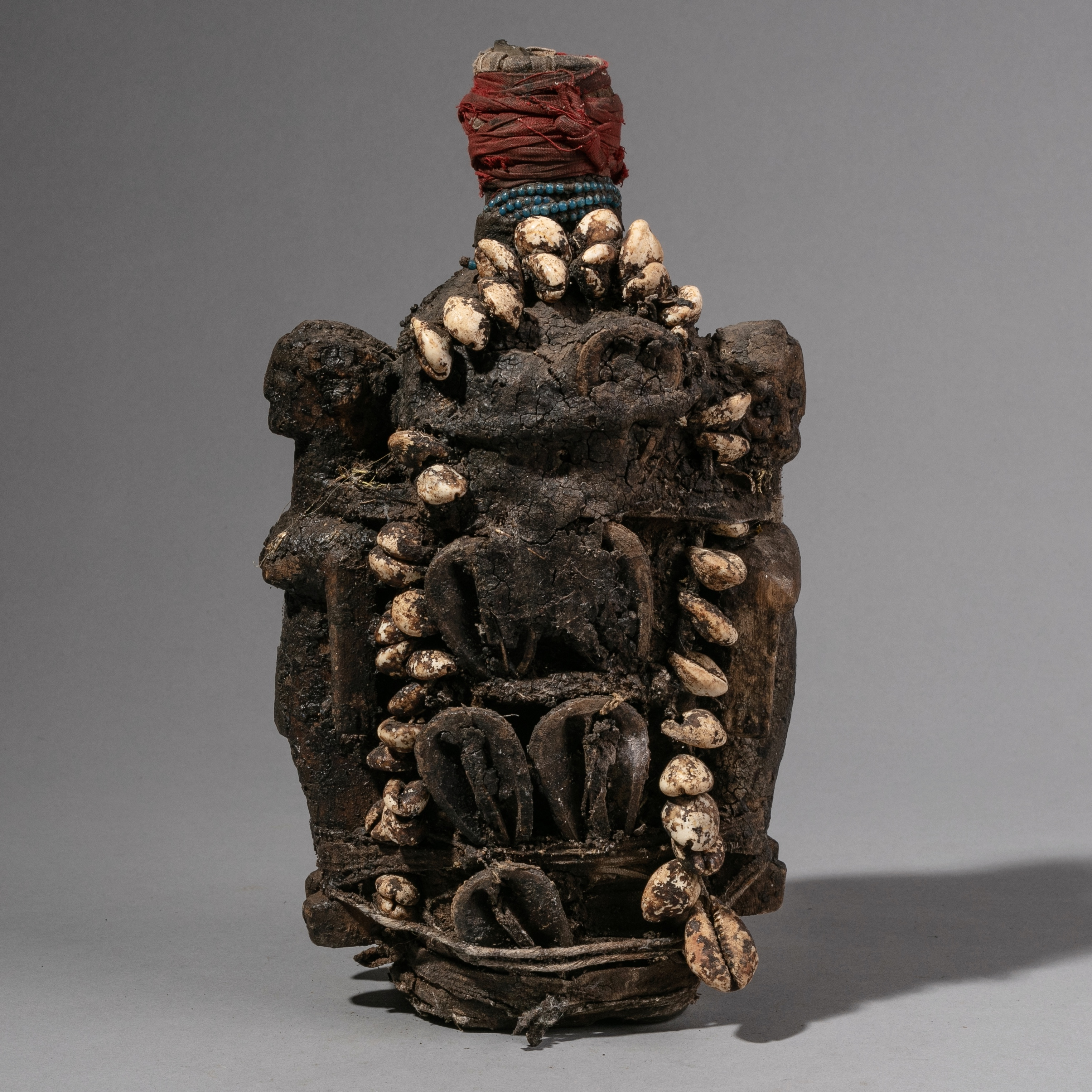 SDA CHARMING BOTTLE EWE TRIBE FETISH OBJECT WITH  TWIN FIGURES ( No 1370)