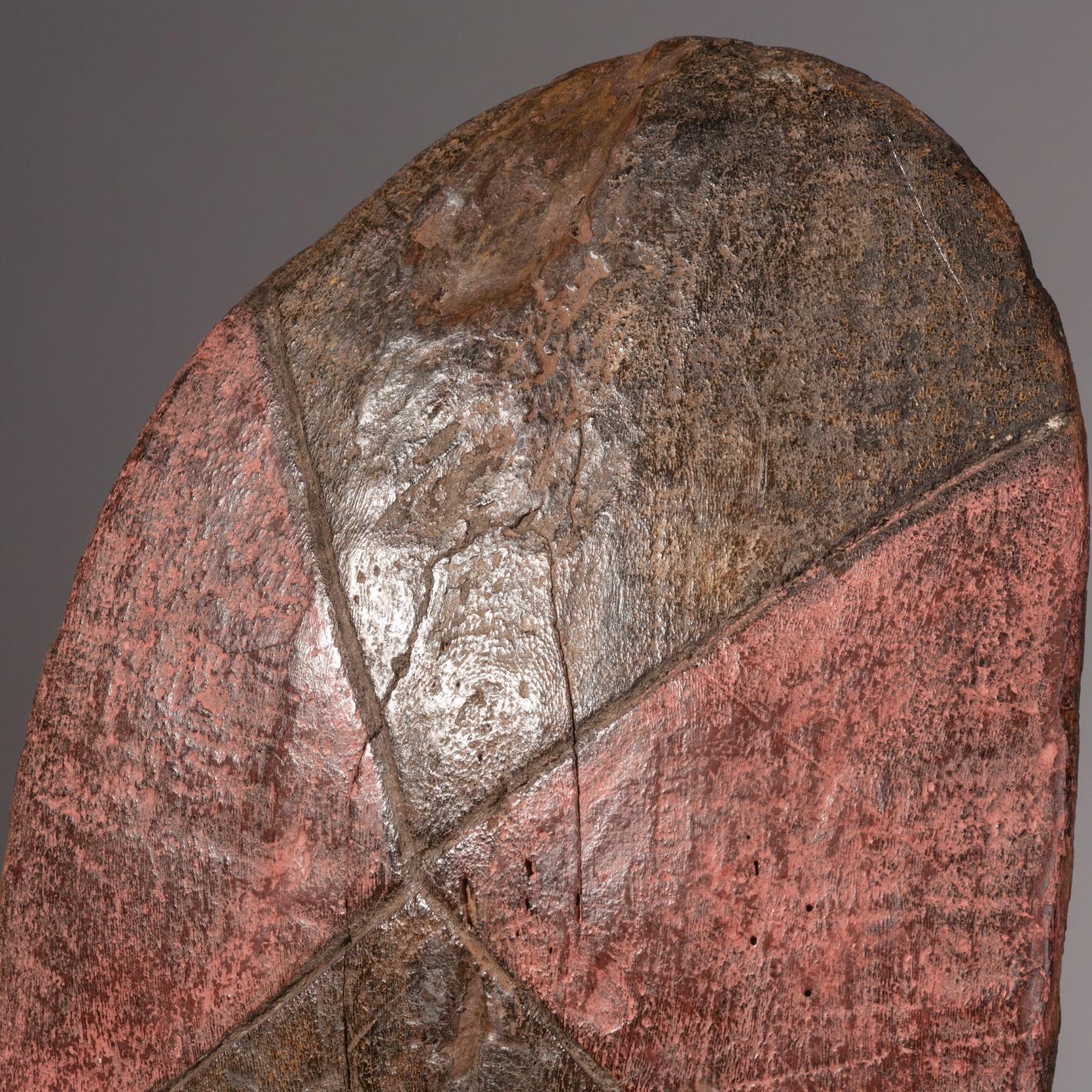 A GRAPHIC TUTSI SHIELD FROM RWANDA ( No 1324 )
