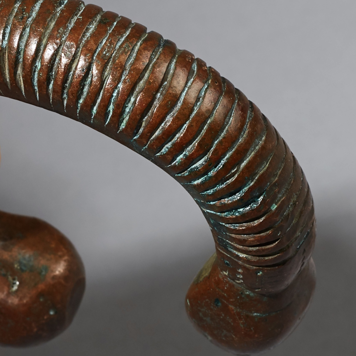 A 19THC FULANI COPPER CURRENCY ANKLET, MALI ( No 3078 )