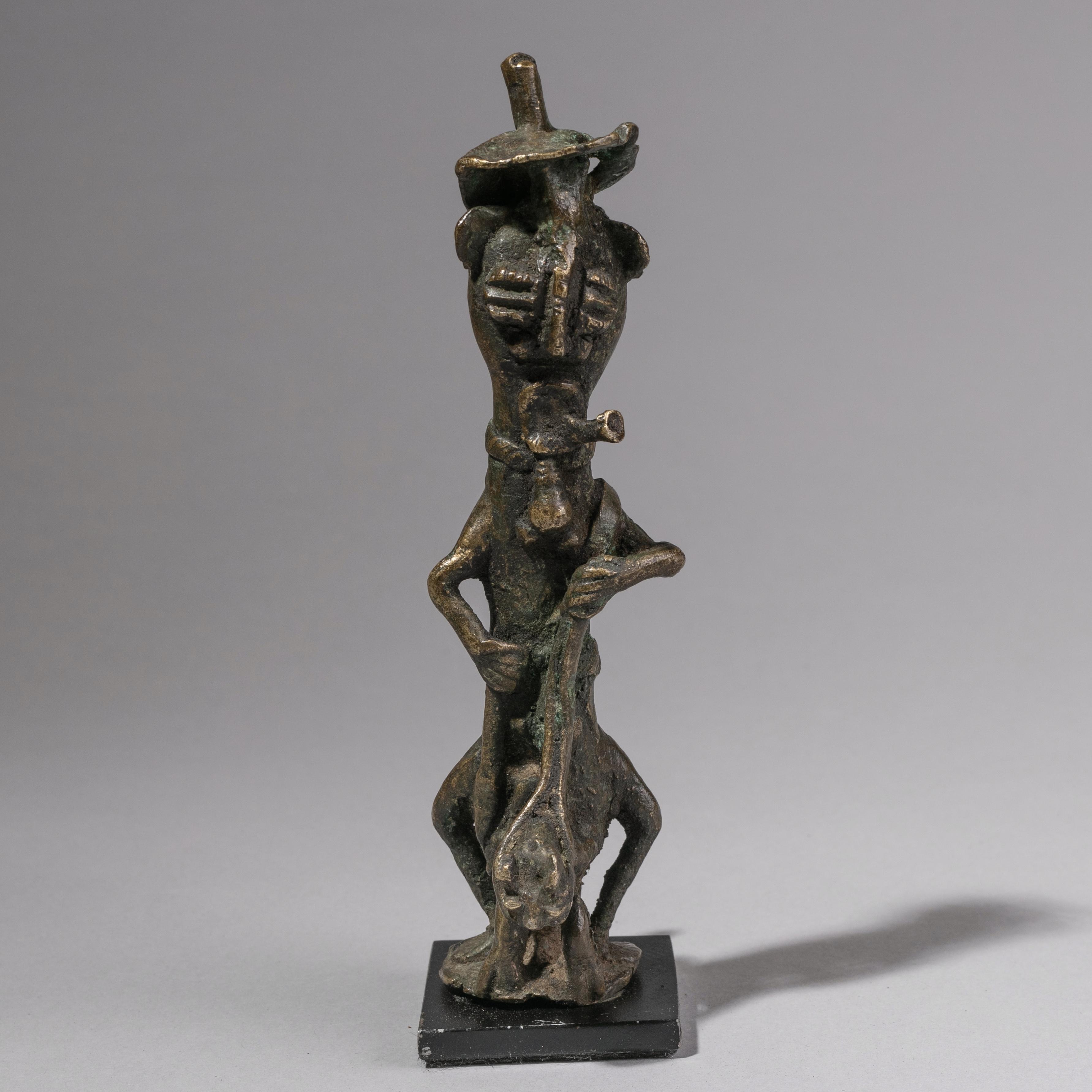 ECLECTIC EKETI BRONZE FIGURE FROM YORUBA TRIBE NIGERIA ( No 1245 )