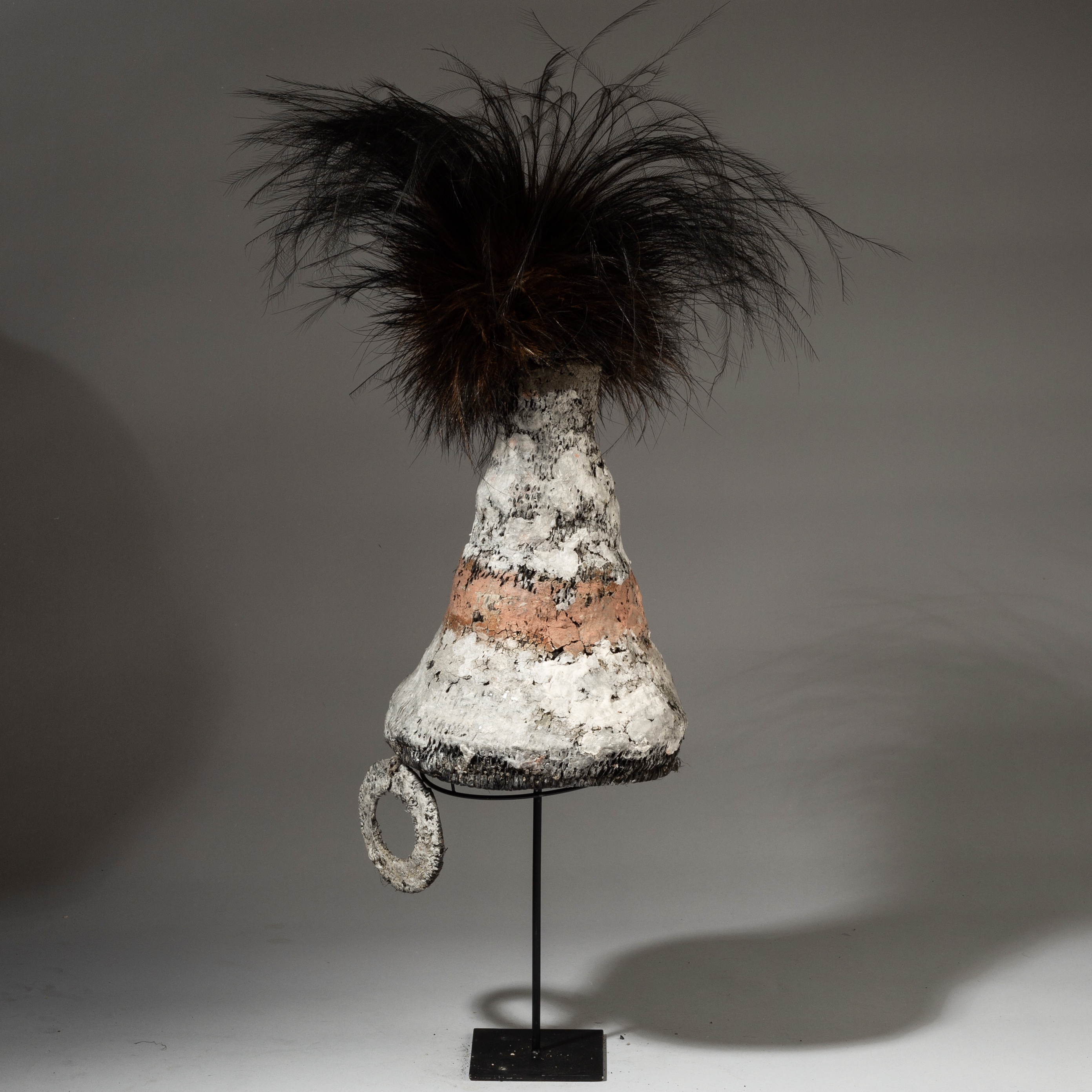 ( SOLD LY LY LY )-AN ELEGANT WOVEN FIBRE + EARTH PIGMENT HAT, PNG ( No 3130 )