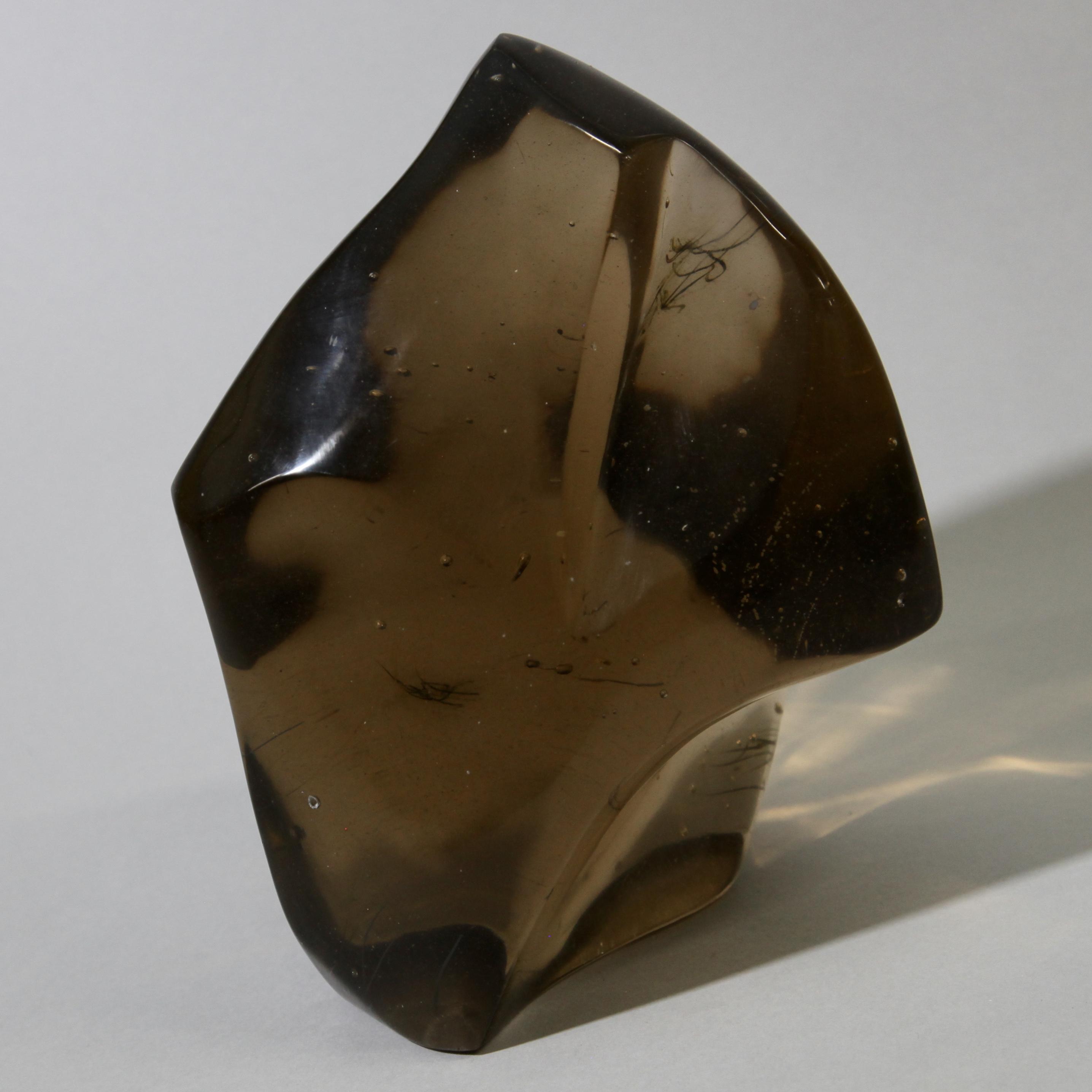 A SMOKY GLASS SCULPTURE ( No 1191 ). NM