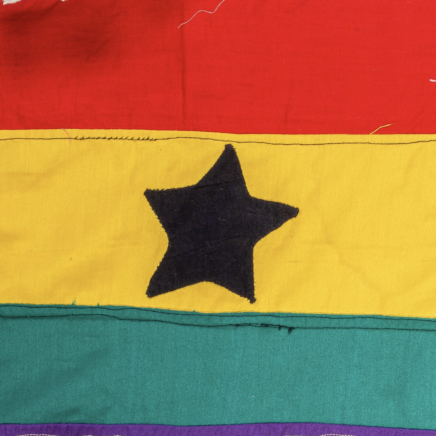 A STRIKING ASAFO FLAG FROM THE FANTE TRIBE GHANA ( No 1898 )