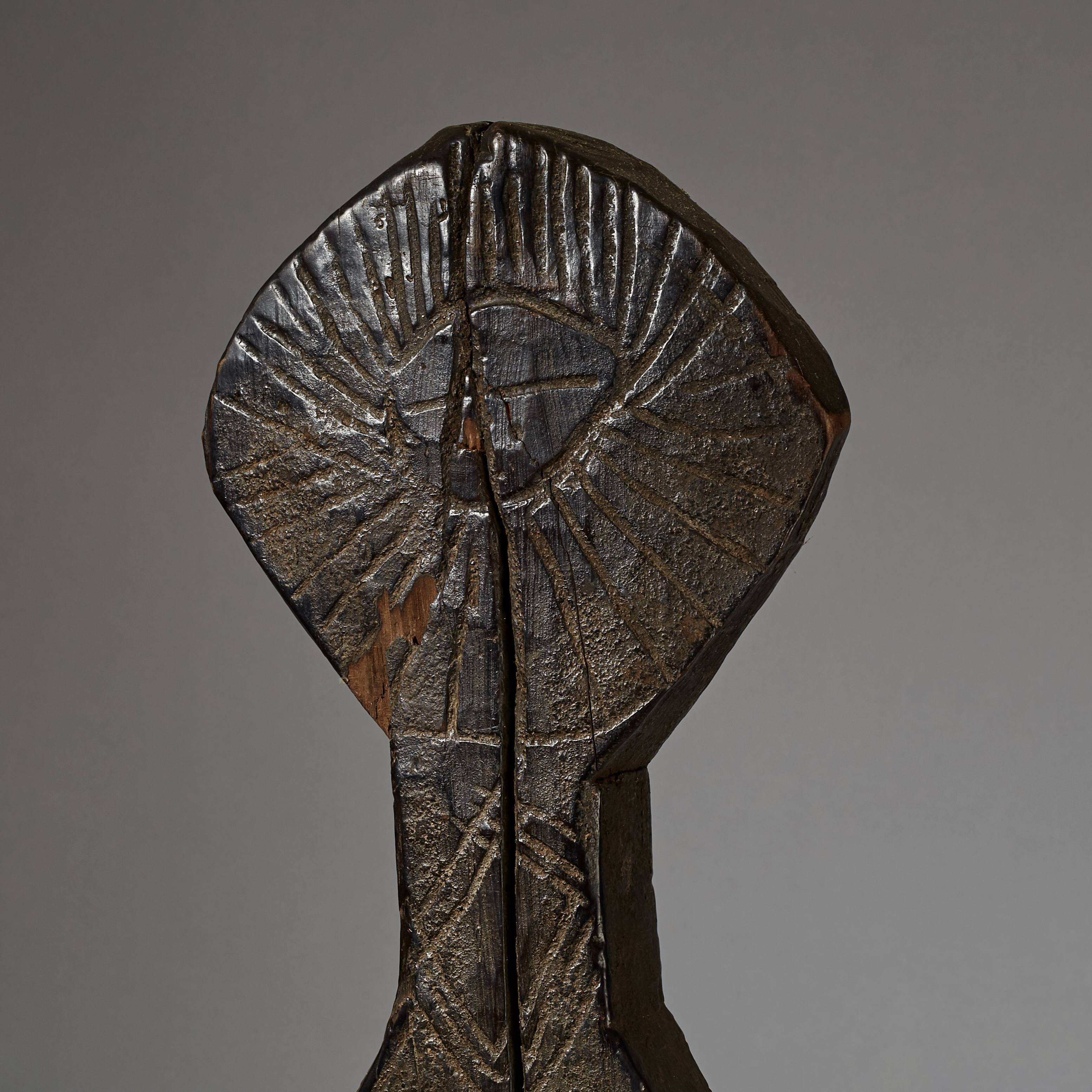AN UNUSUAL ROOM DIVIDER, WITH AN EYE, GURAGE TRIBE ETHIOPIA ( No 2866 )