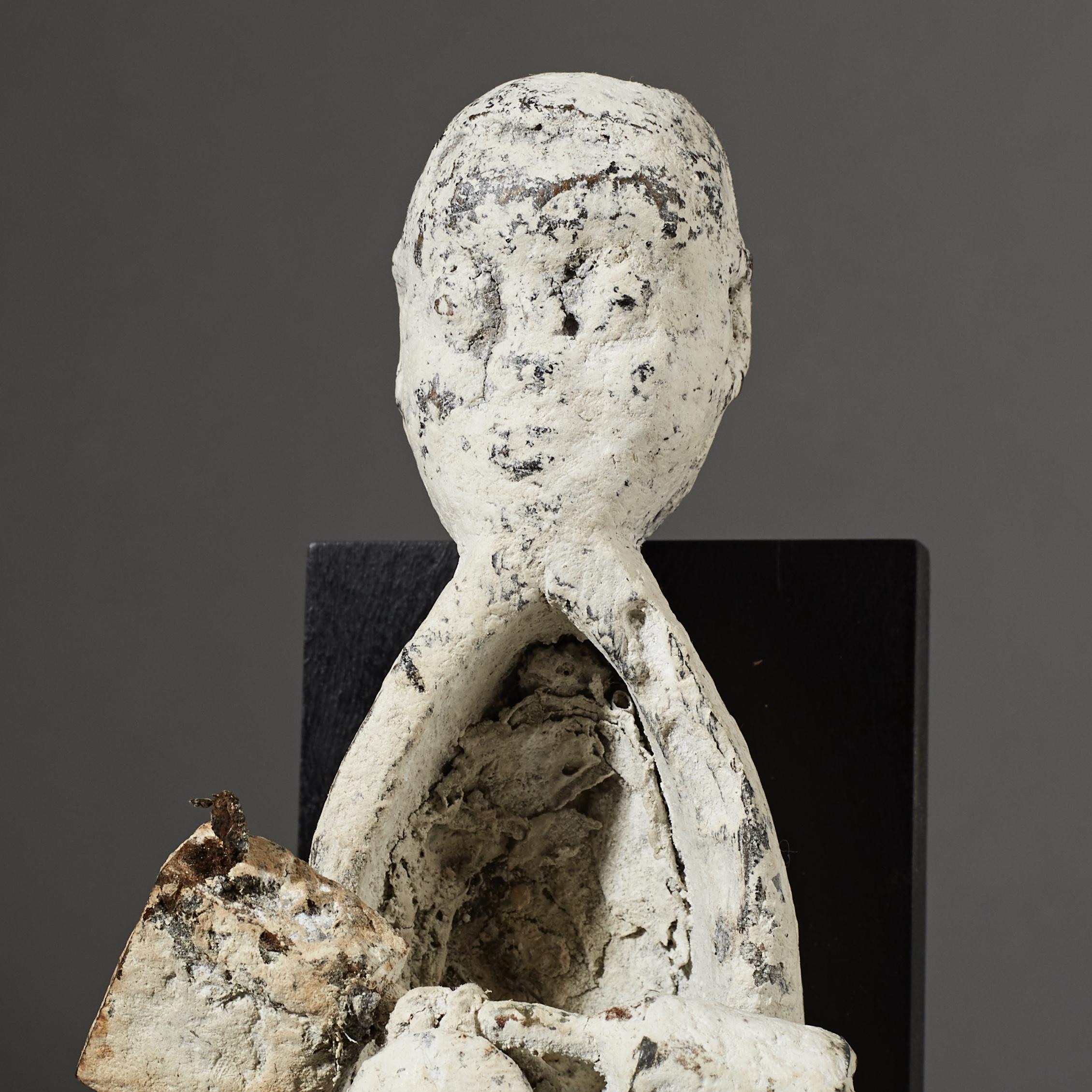 SD A CUTE JANUS EWE FETISH BOAT WITH PADLOCKS, FROM GHANA ( No 2660 )