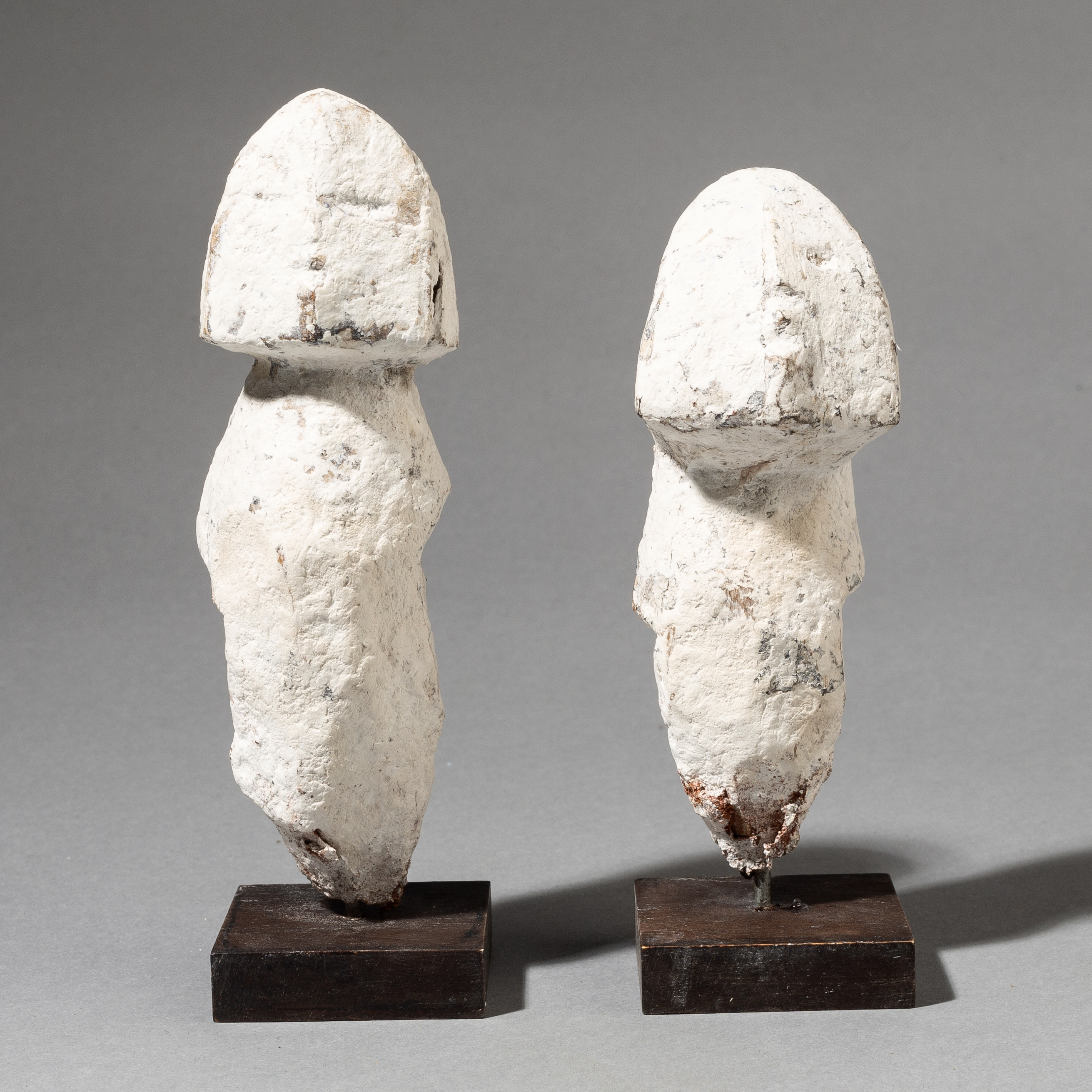 A MOST UNUSUAL PAIR OF EWE ALTAR FIGURES FROM GHANA ( No 3538)