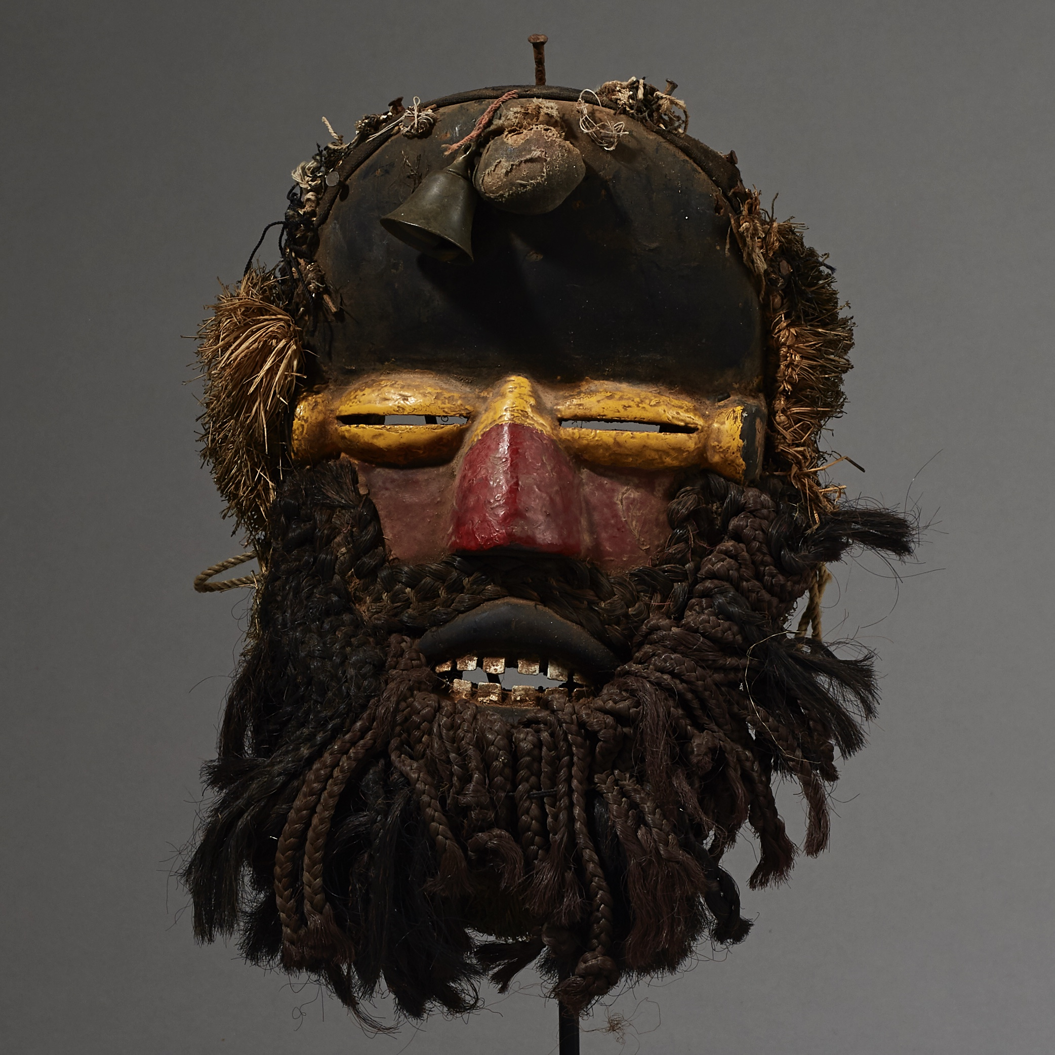 A MASKED GUERRE MASK FROM THE IVORY COAST ( No 2598 )