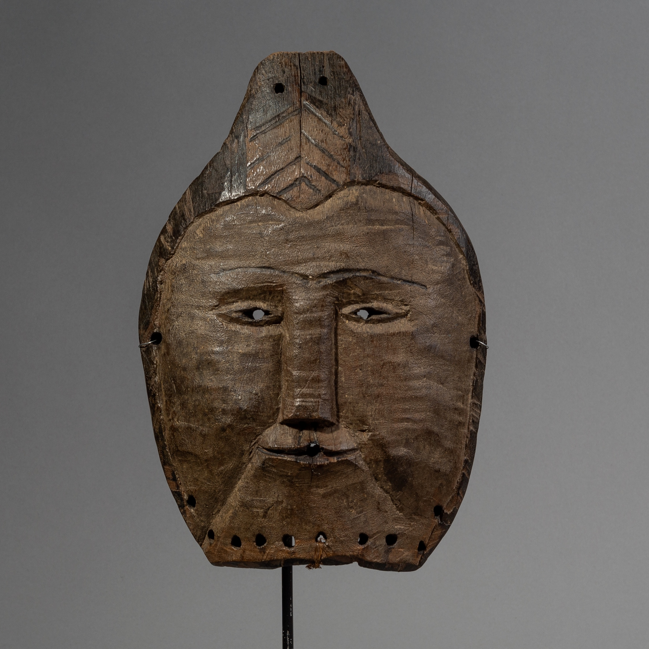 A BUDDHA LIKE MASK FROM THE TABWA TRIBE OF THE CONGO ( No 2169 )