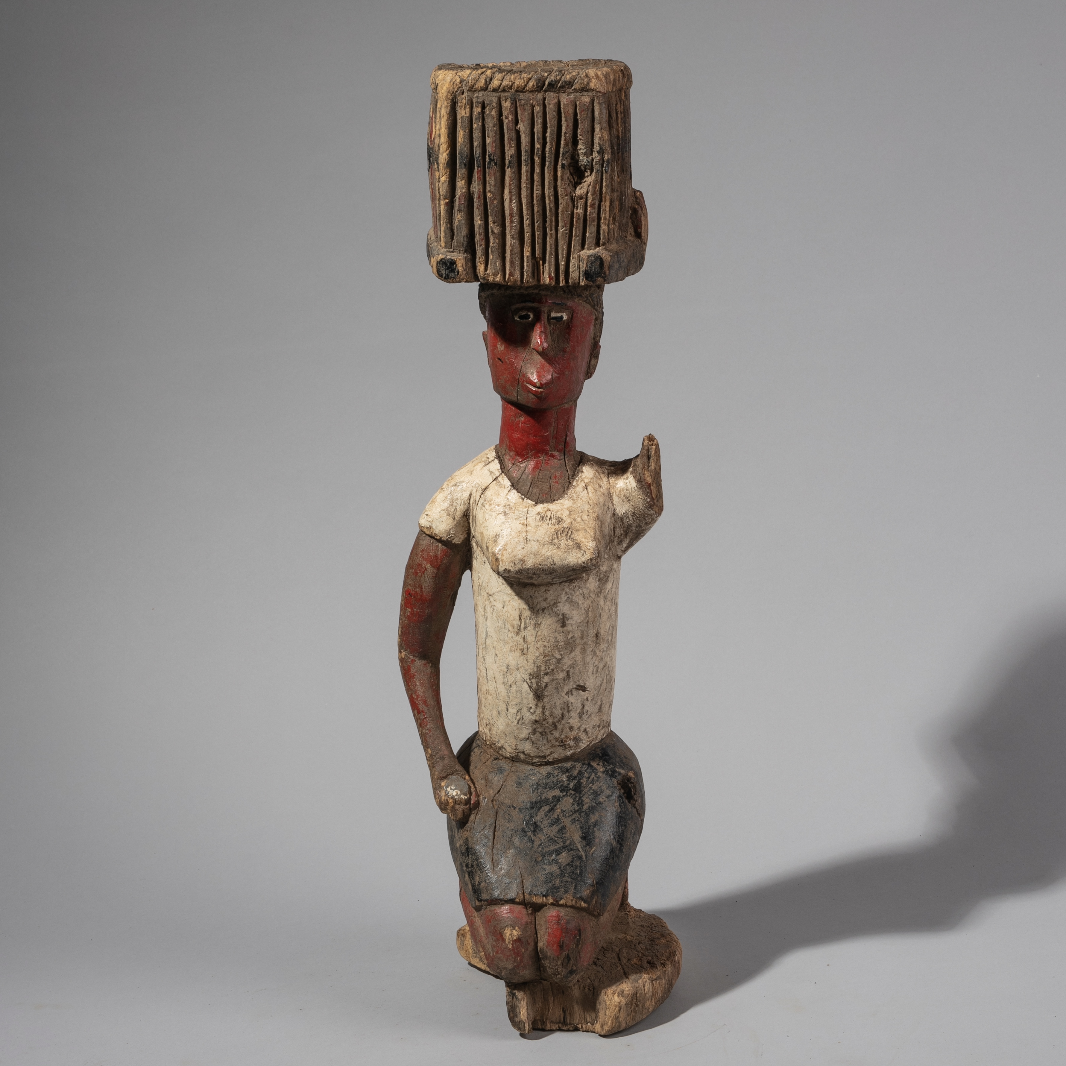 ( SOLD- LY ) -SD A COLOURFUL ALTAR FIGURE FROM BAGA TRIBE GUINEA BISSAU ( No 1294 )