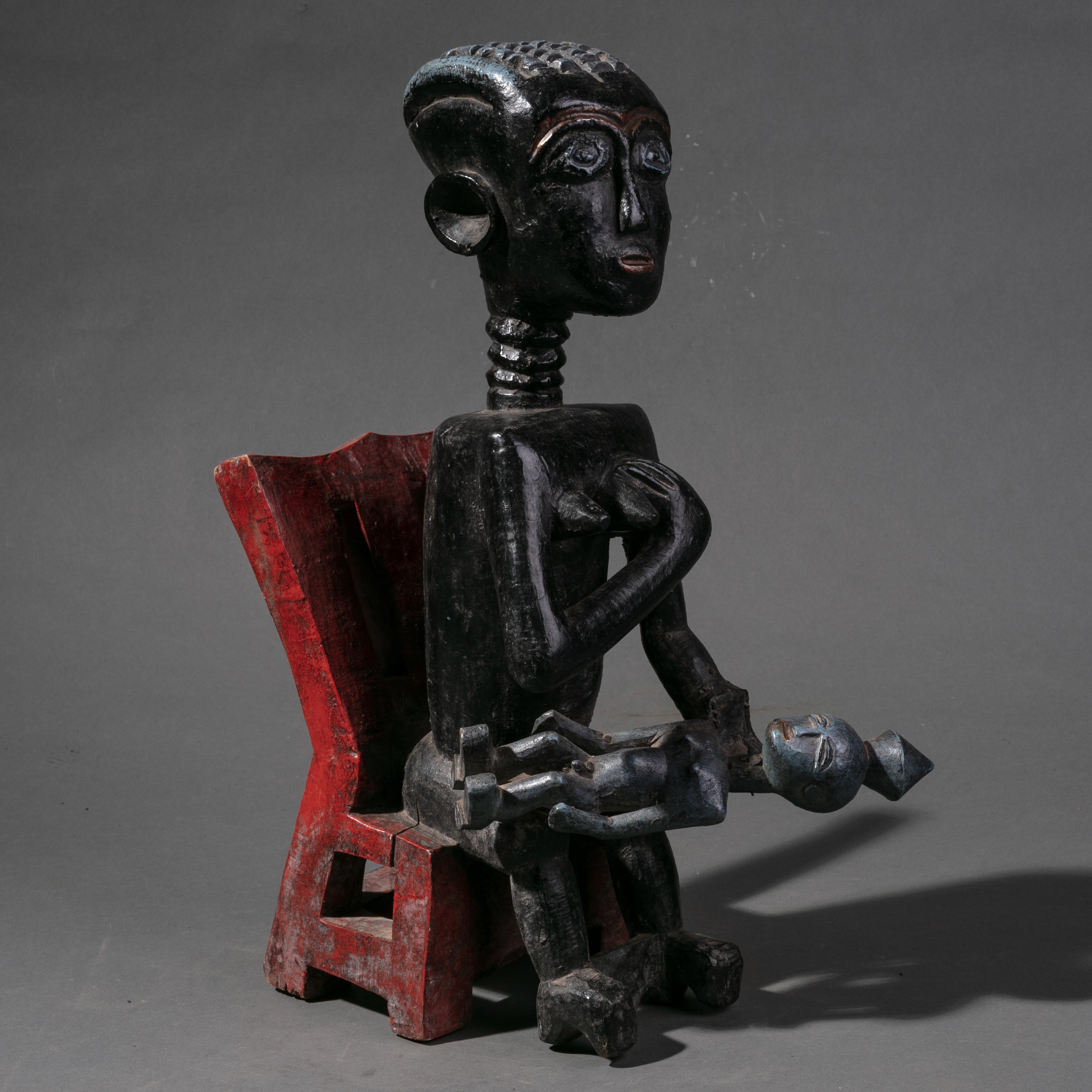 A DETAILED LARGE KULANGO TRIBE STATUE IVORY COAST ( No 982 )
