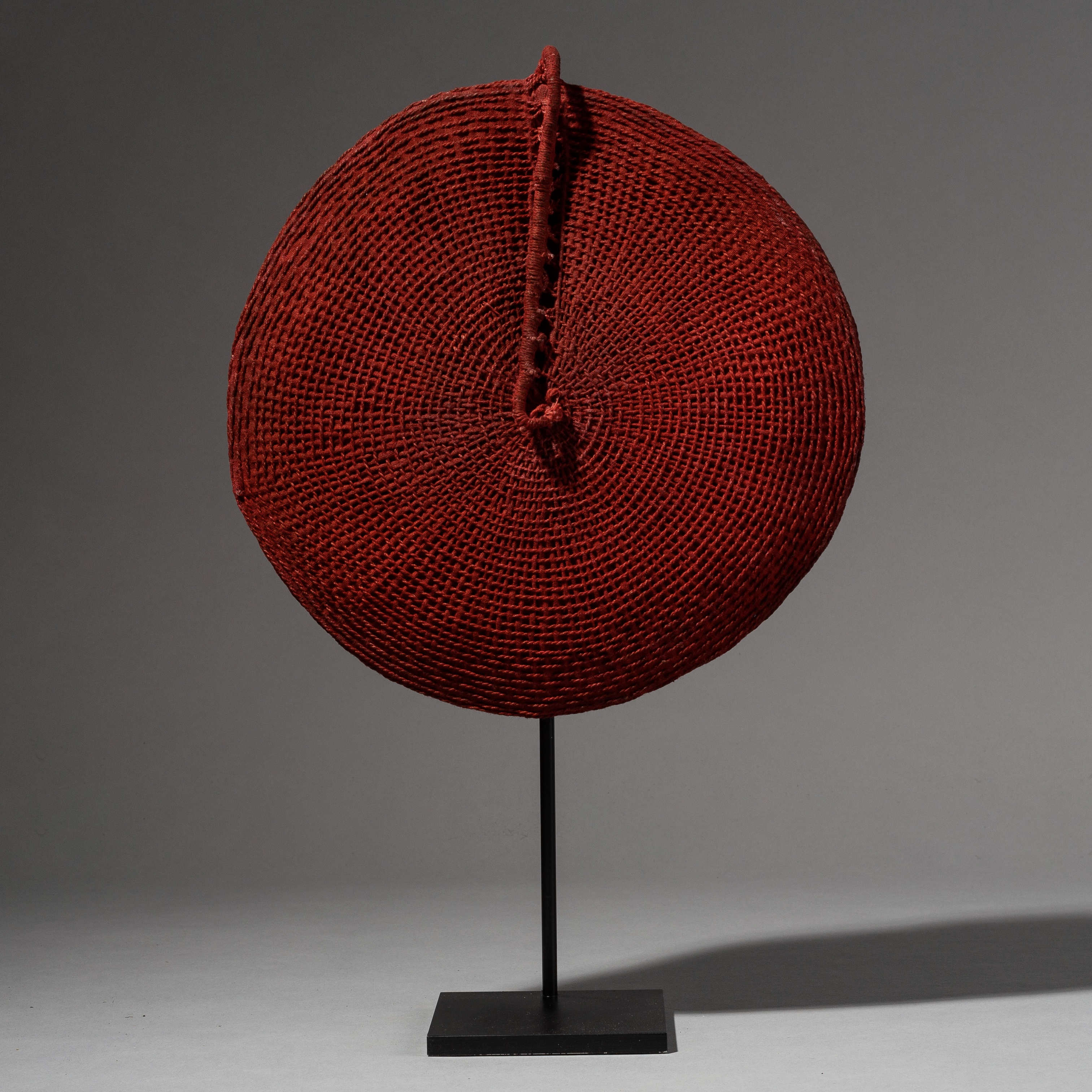 A PURE DEEP RED ZULU HAT FROM SOUTH AFRICA ( No 2011 )