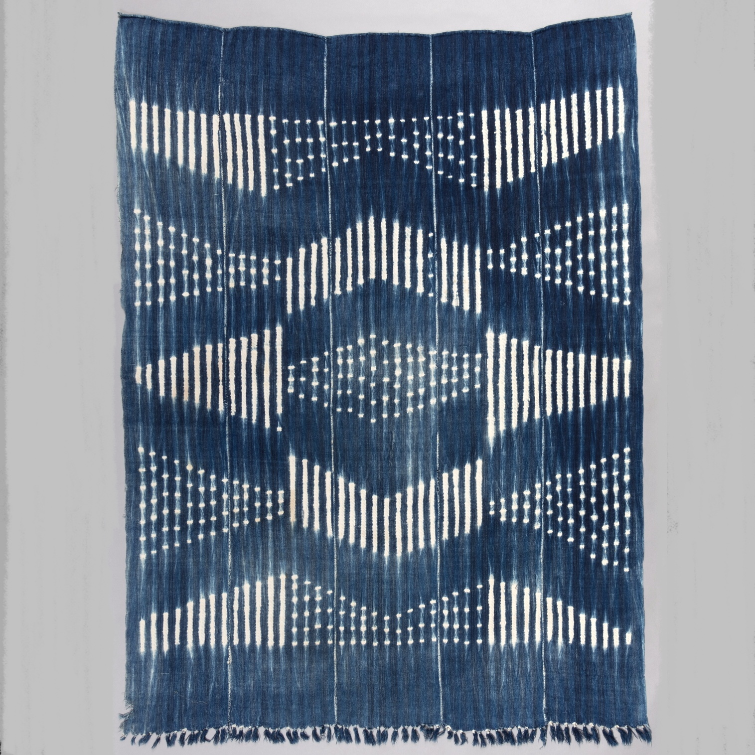 AN INCREDIBLE INDIGO CLOTH. MOSSI TRIBE BURKINA FASO ( No 3893 )