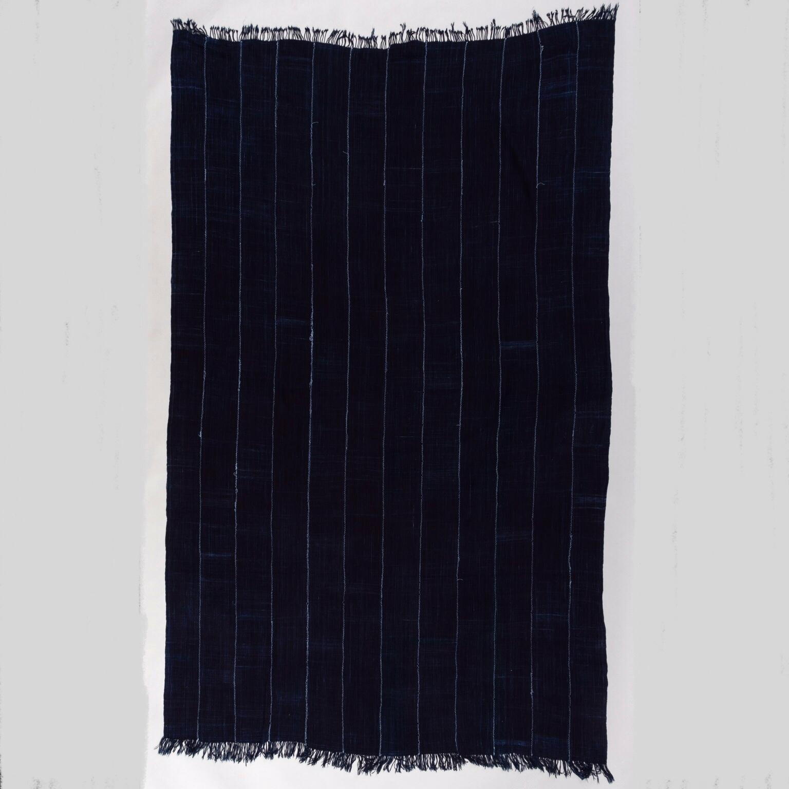 A PLAIN BLUE INDIGO CLOTH, MOSSI TRIBE BURKINA ( No 3425 )