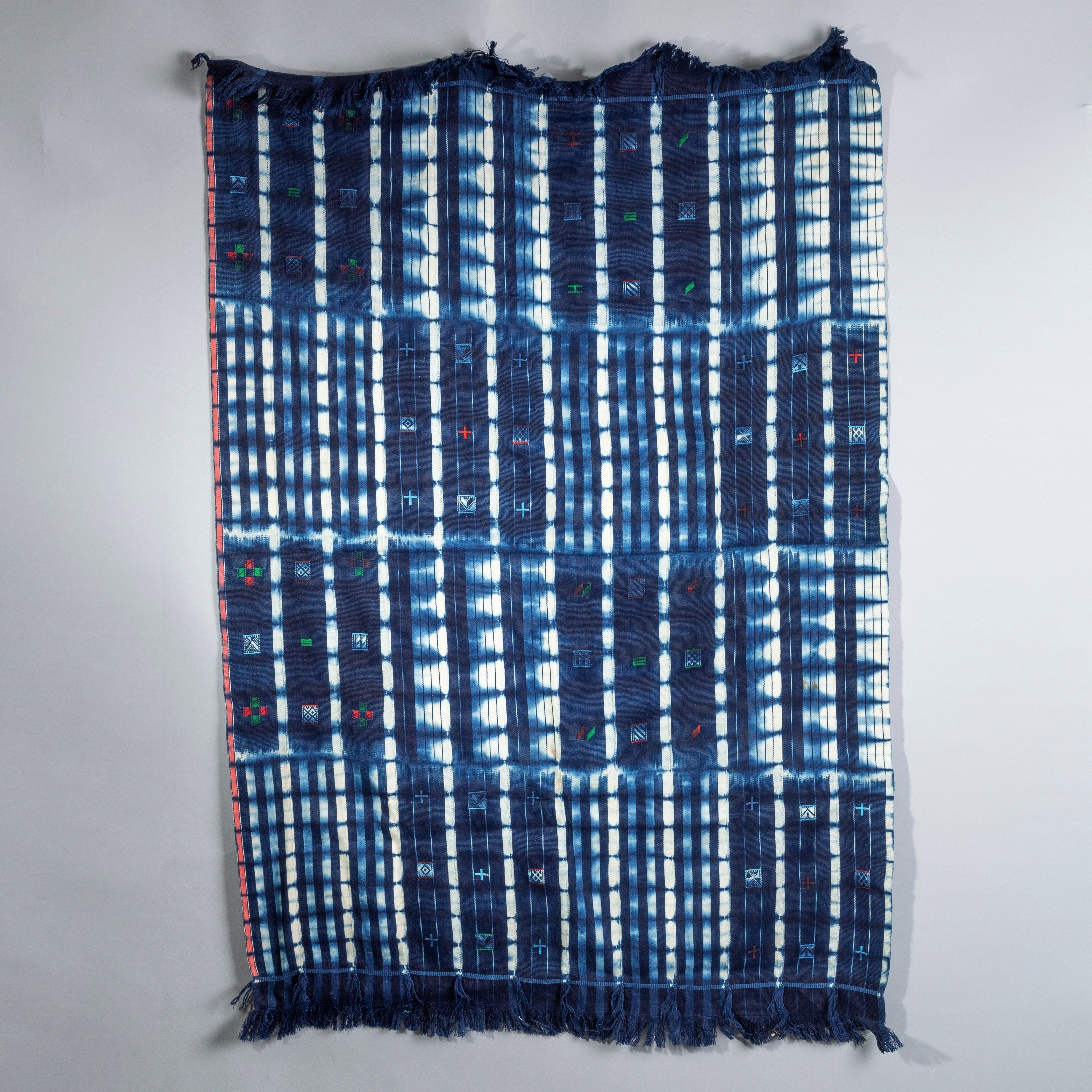 A CHEQUERED STRIPED WOMENS CLOTH FROM NORTHERN GHANA ( No 1910 )