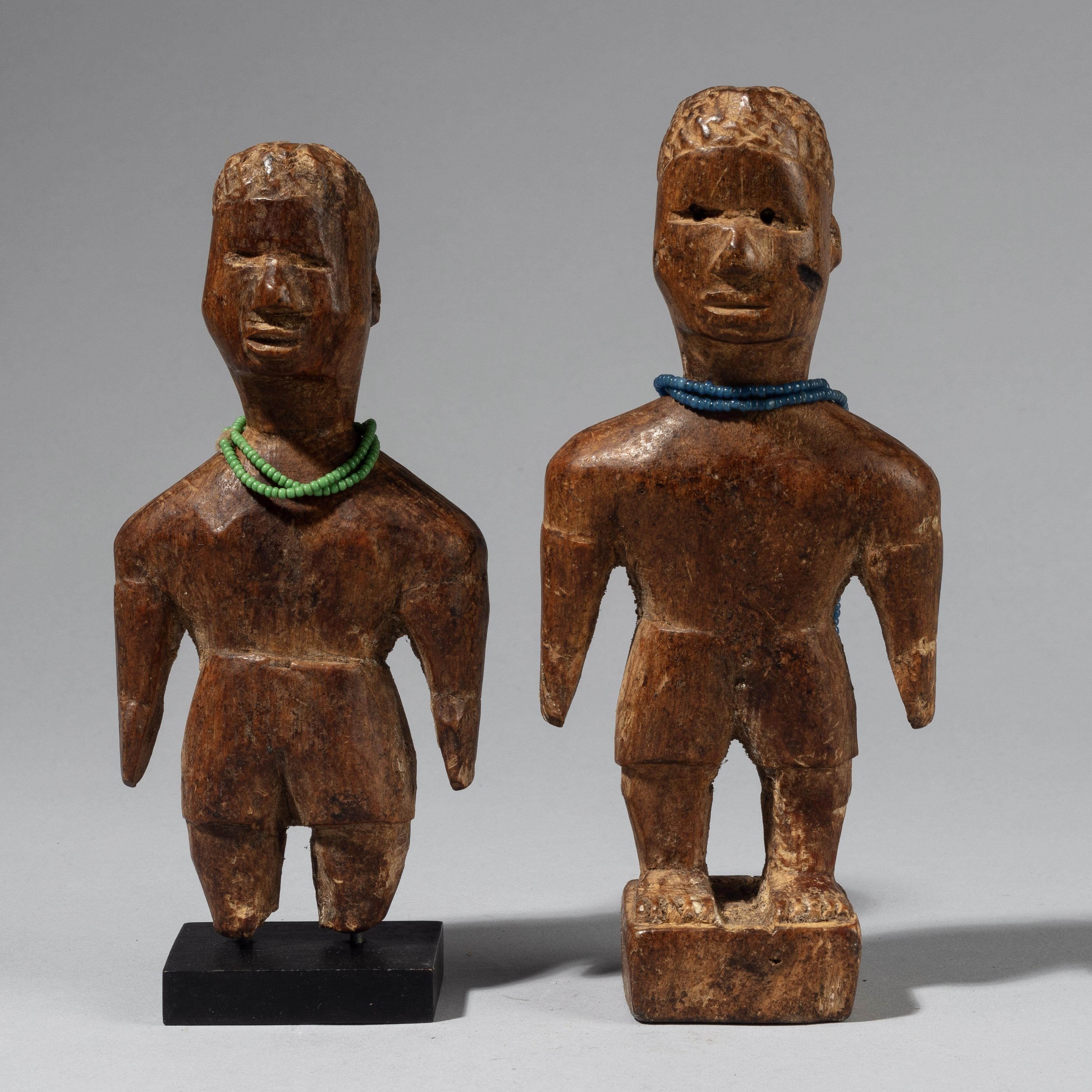 A PAIR OF MASCULINE VENAVI DOLLS, EWE TRIBE GHANA W AFRICA ( No 4226)