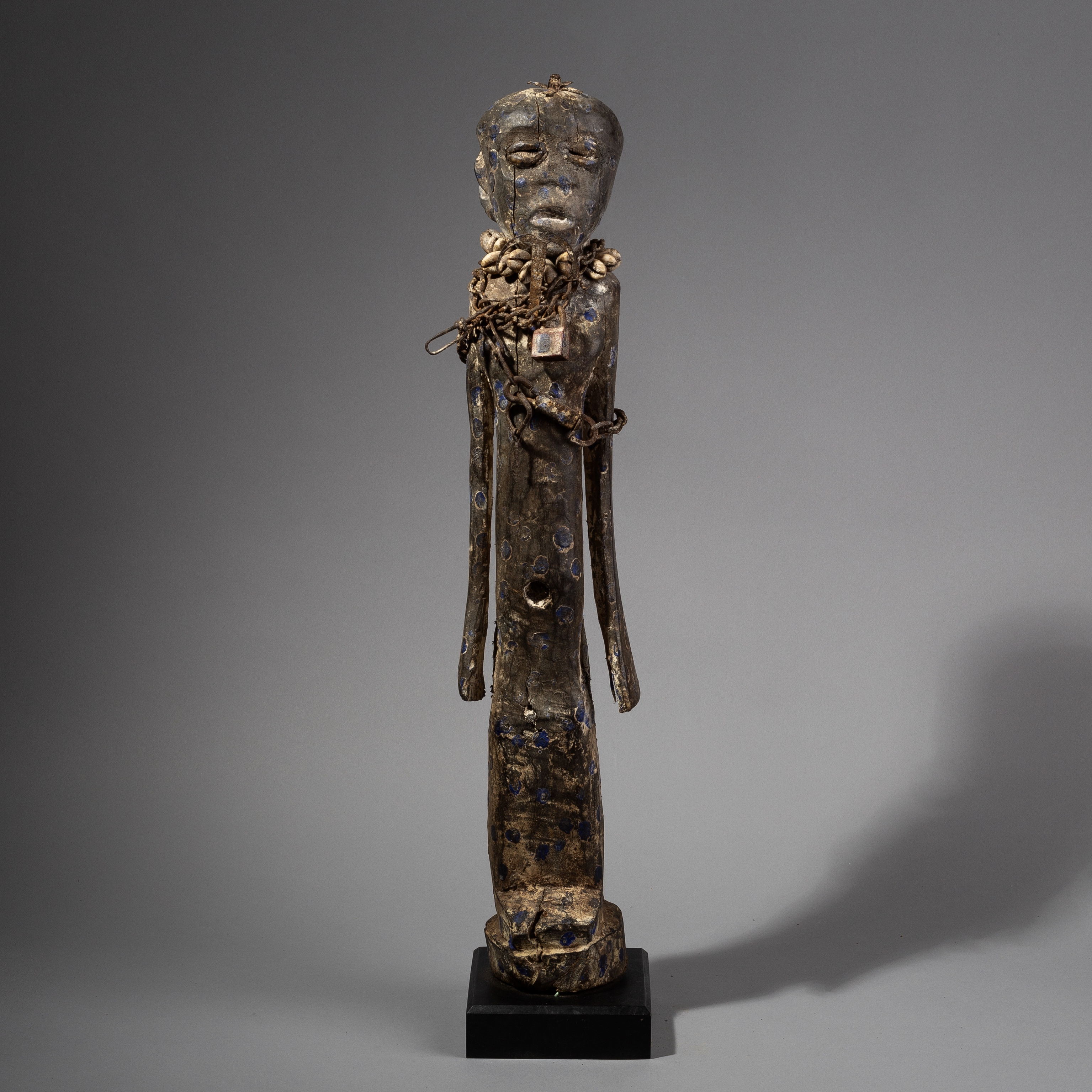 A TALL SPOTTED POWER FIGURE FROM THE EWE TRIBE  OF TOGO ( No 1363 )