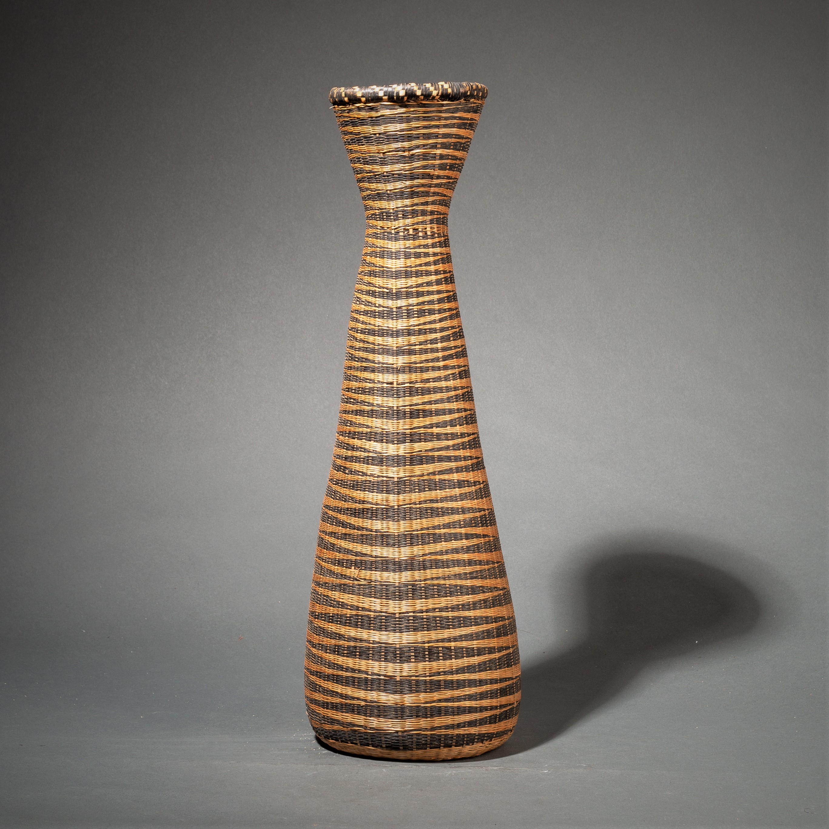 ( SOLD LY ) -A SLENDER 60 cm  MONOCHROMATIC TUTSI BASKET ( No 96 )