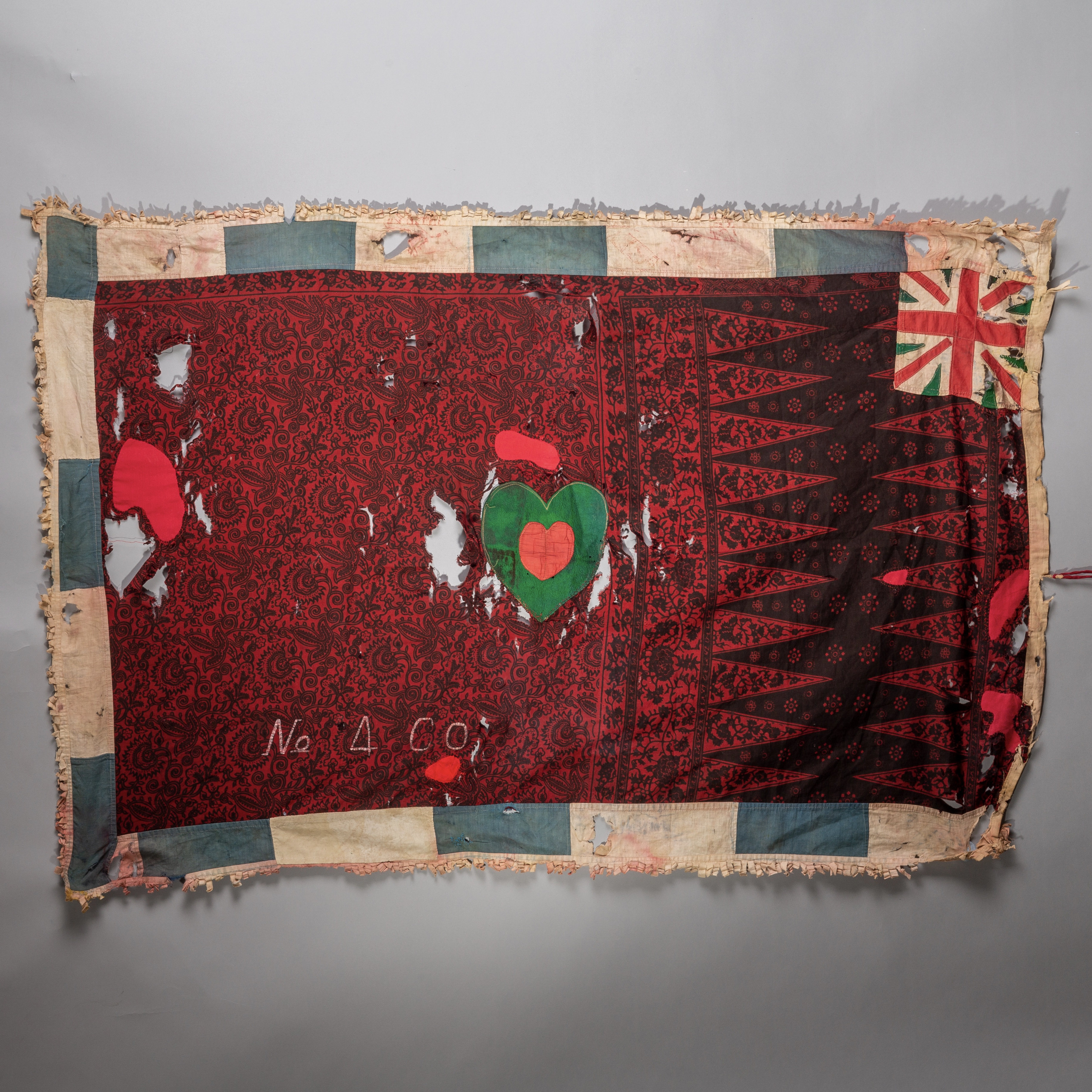 A STRIKING ASAFO FLAG FROM FANTE TRIBE OF GHANA ( No 1673 )