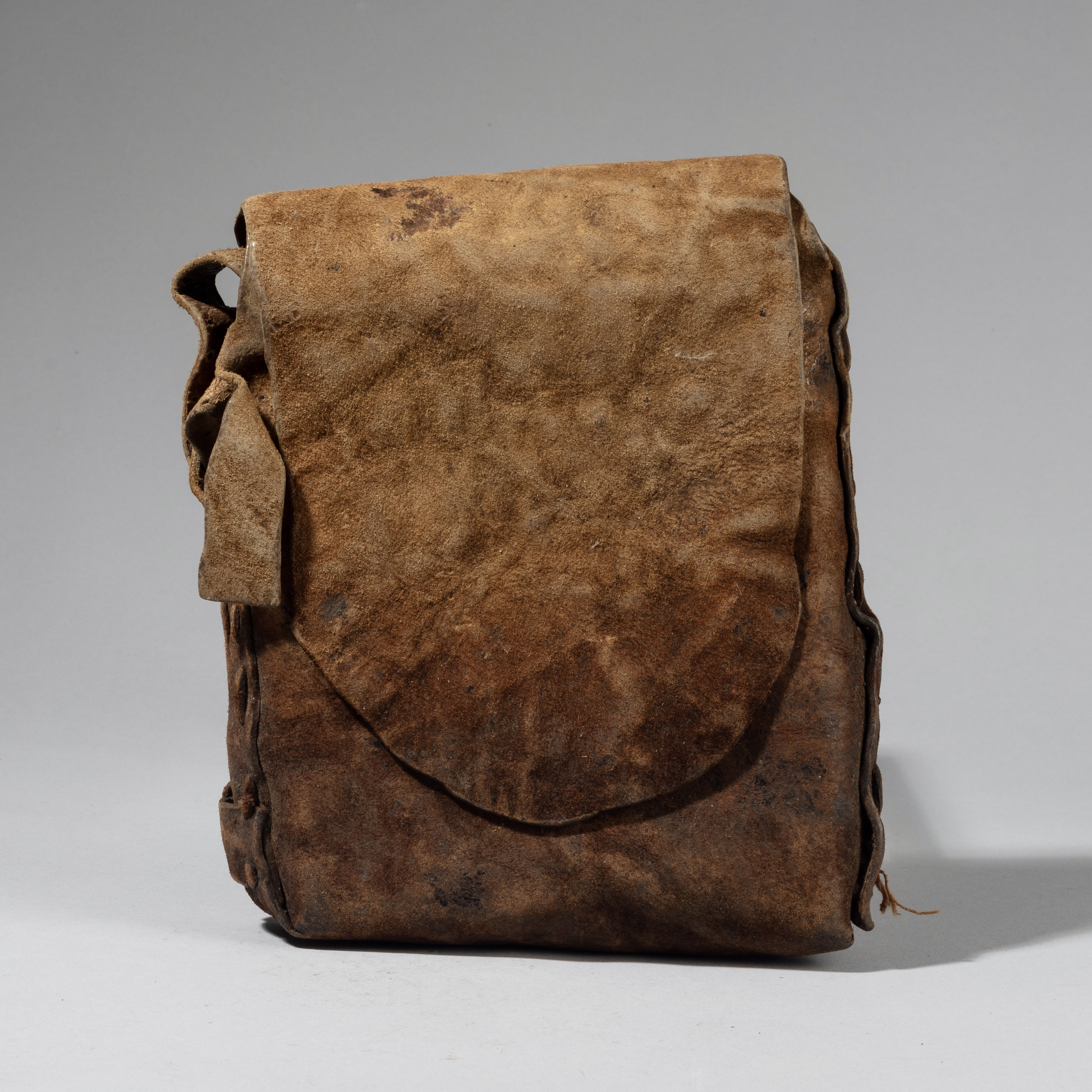 A LARGE 19THC LEATHER BIBLE BAG FROM ETHIOPIA E AFRICA ( No 4356)