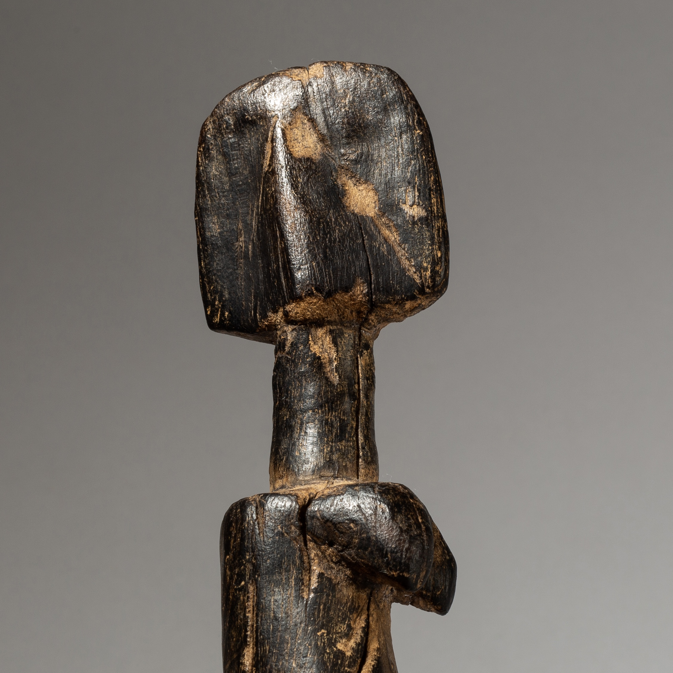 A SUPREMELY WORN MOSSI DOLL FROM BURKINA FASO W AFRICA ( No 4146)