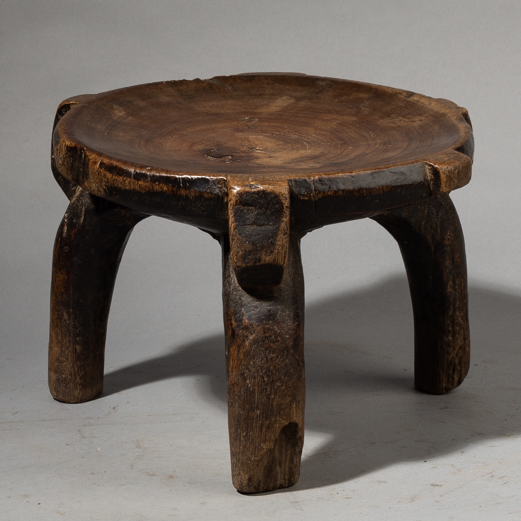 A LOVELY WELL USED HE HE TRIBE STOOL FROM TANZANIA ( No 3637 )