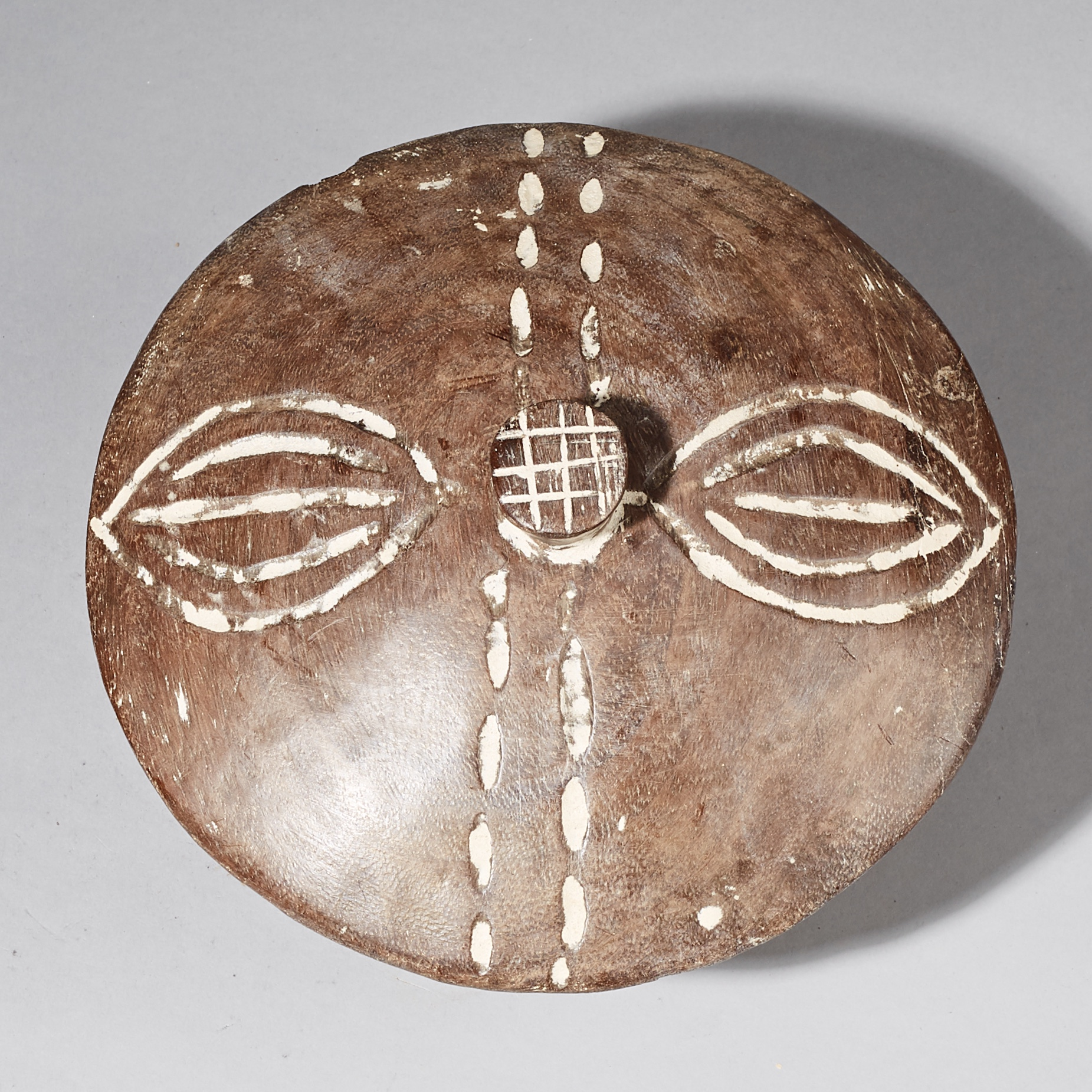 ( SOLD- LY )- A UNIQUE  TRADITIONAL DIVINATION CONTAINER FROM YORUBA TRIBE NIGERIA ( No 2464 )