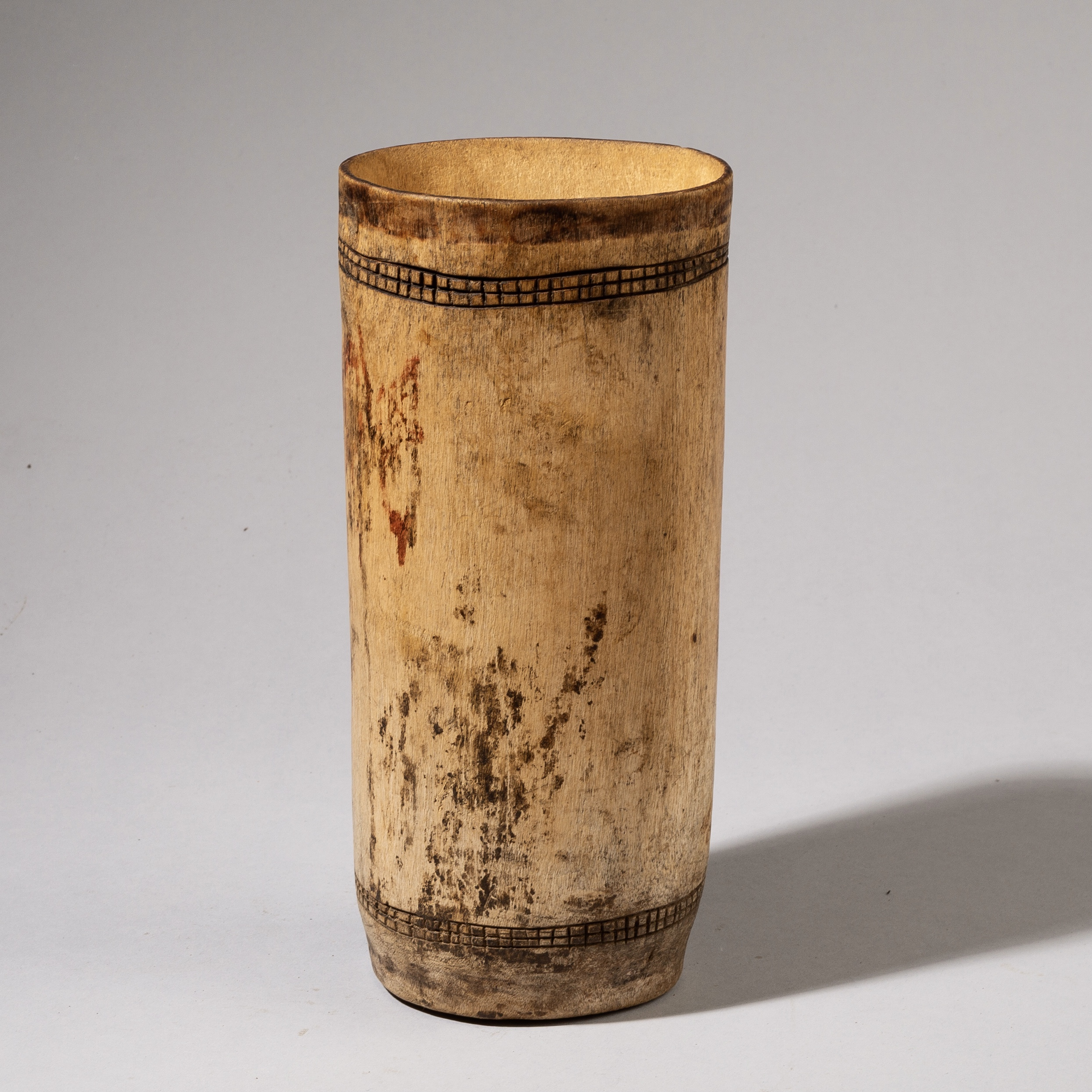 Sold-A STYLISH WOOD TURKANA TRIBE MILK CONTAINER FROM KENYA (No 3542 )