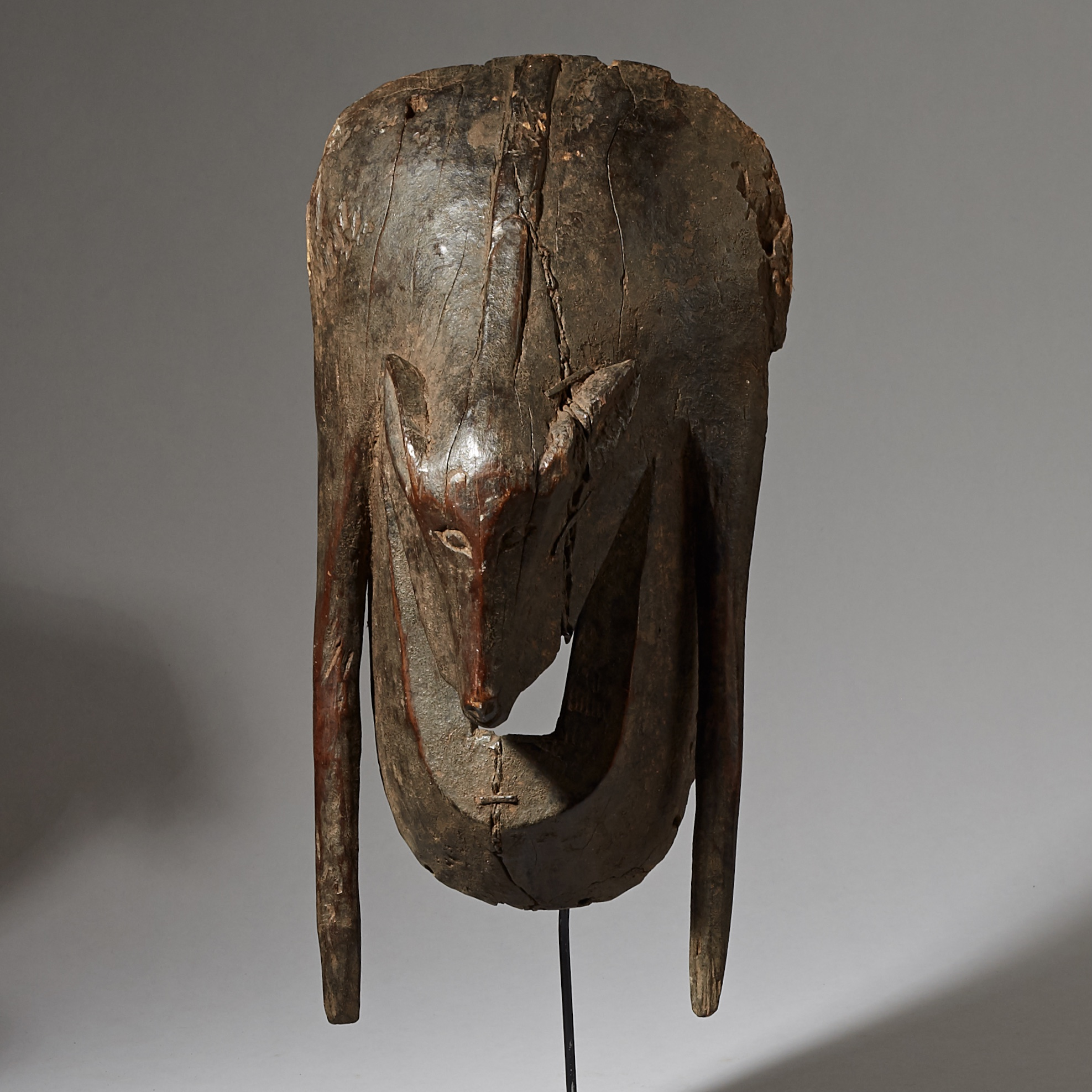 A MORPHING BAT MASK FROM THE YAURE TRIBE, IVORY COAST ( No 2875 )