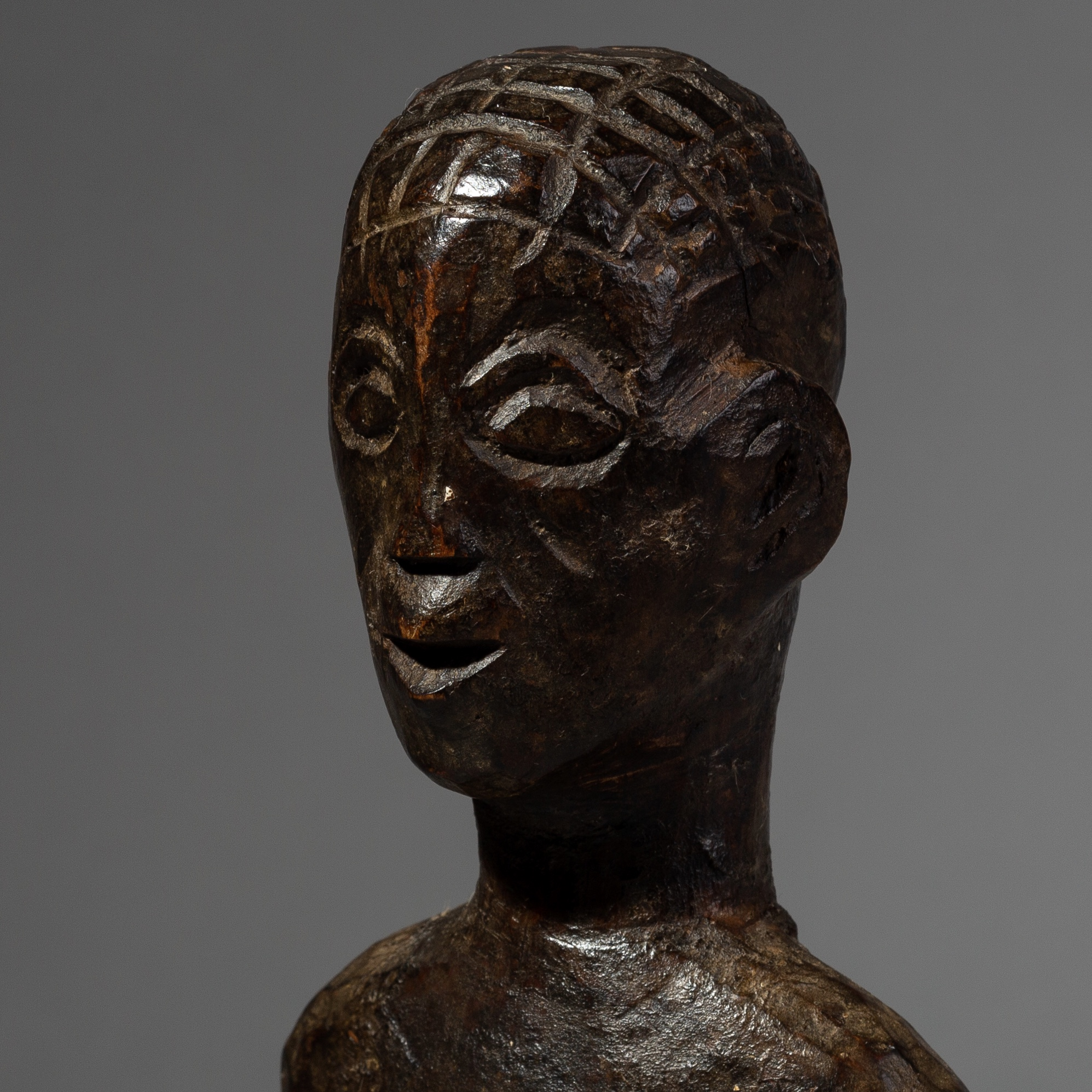 SD A NICELY PATINATED AGNI ALTAR FIGURE FROM THE IVORY COAST ( No 2154 )