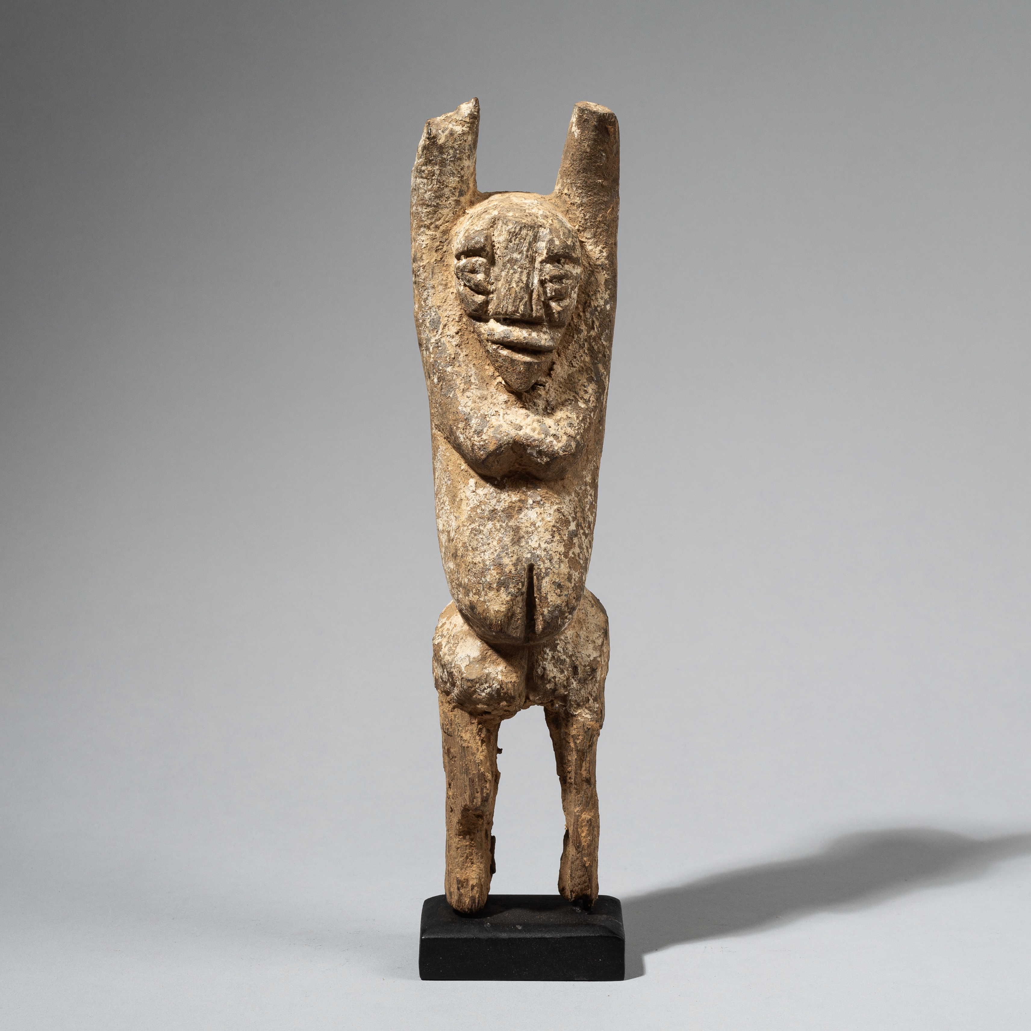 AN ENCRUSTED ARMS UP LOBI FROM BURKINA FASO W. AFRICA( No 4457 )
