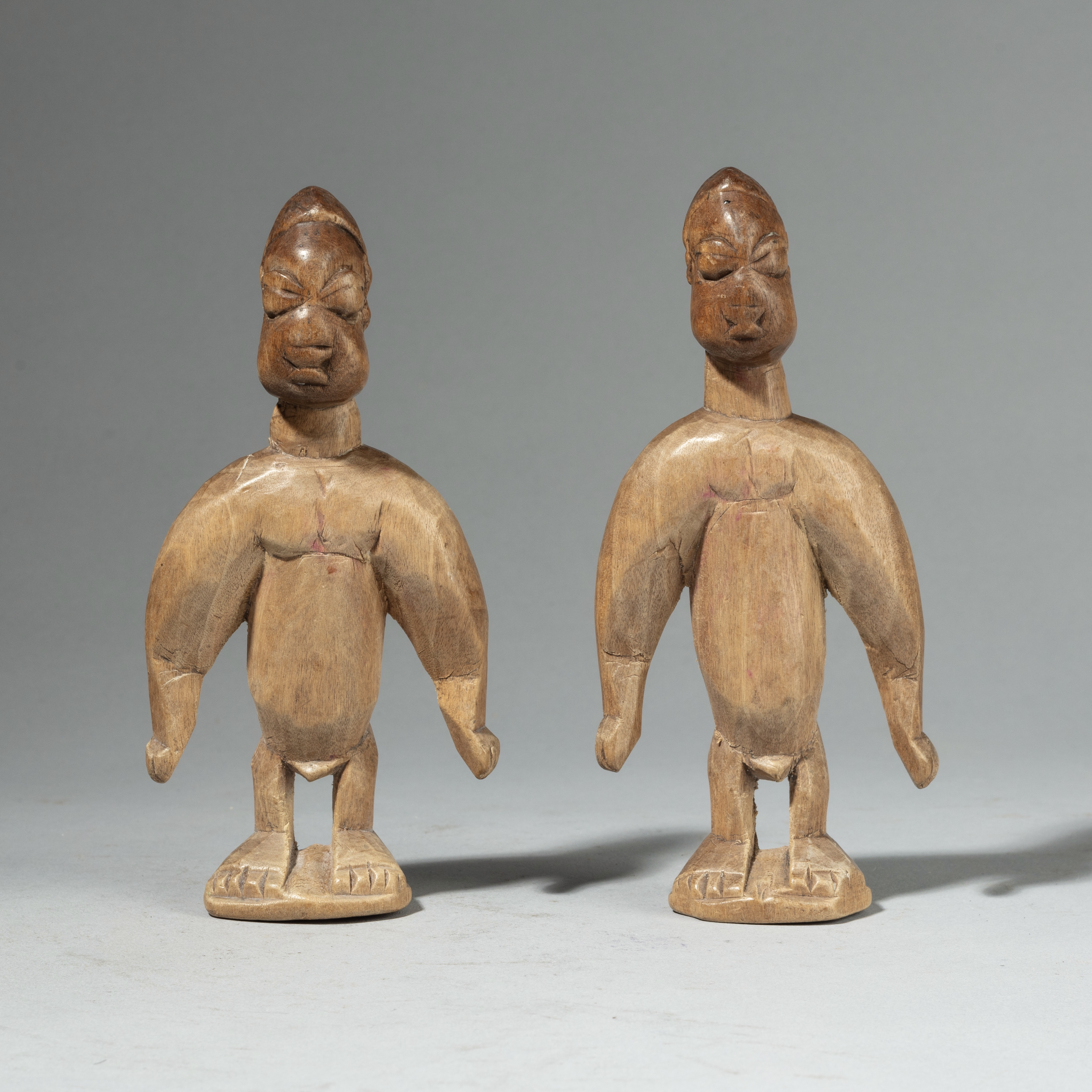 A MUSCULAR PAIR OF VENAVI DOLLS FROM EWE TRIBE TOGO, W. AFRICA( No 4382)