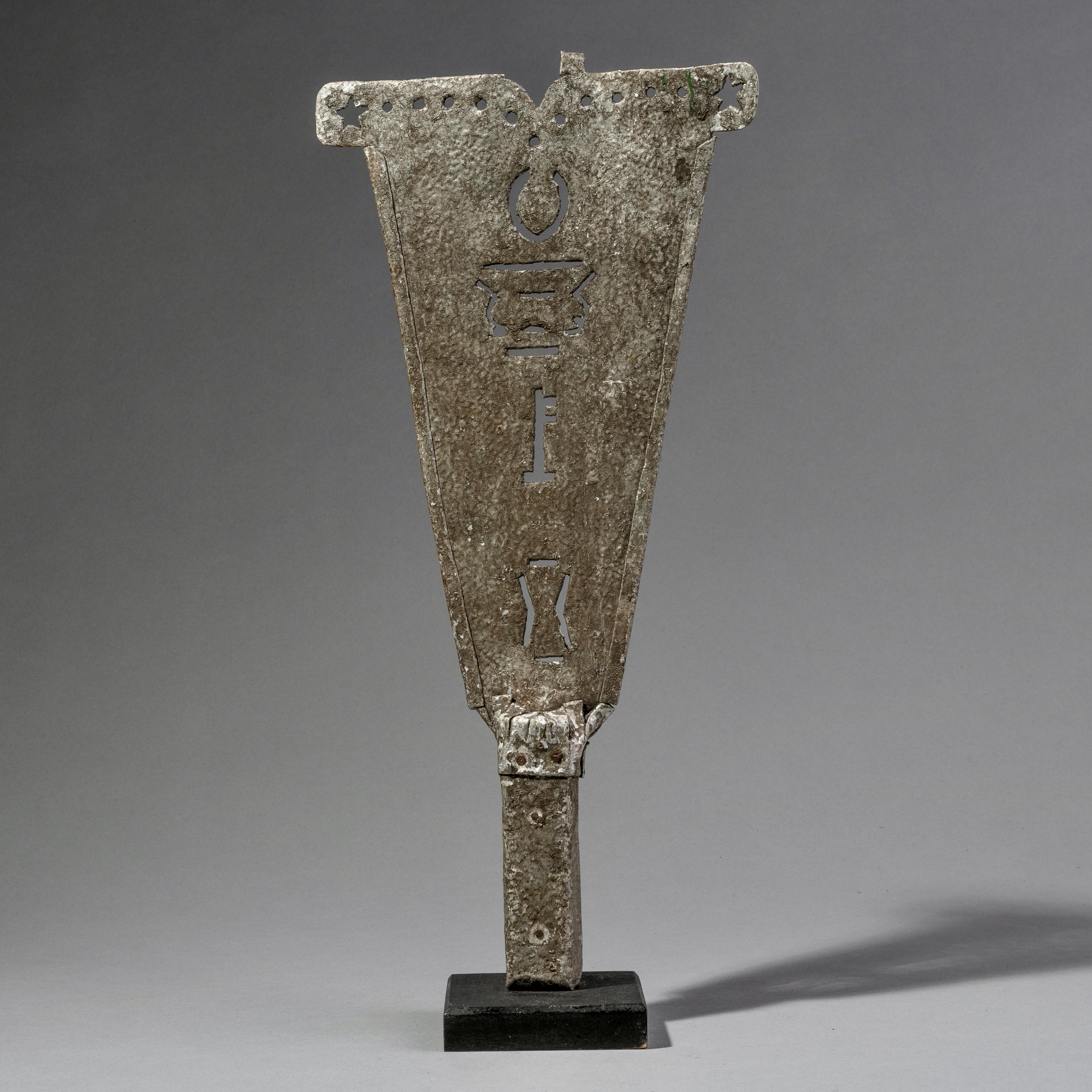 AN ALUMINIUM PRESTIGE SWORD FROM GHANA ( No 1180