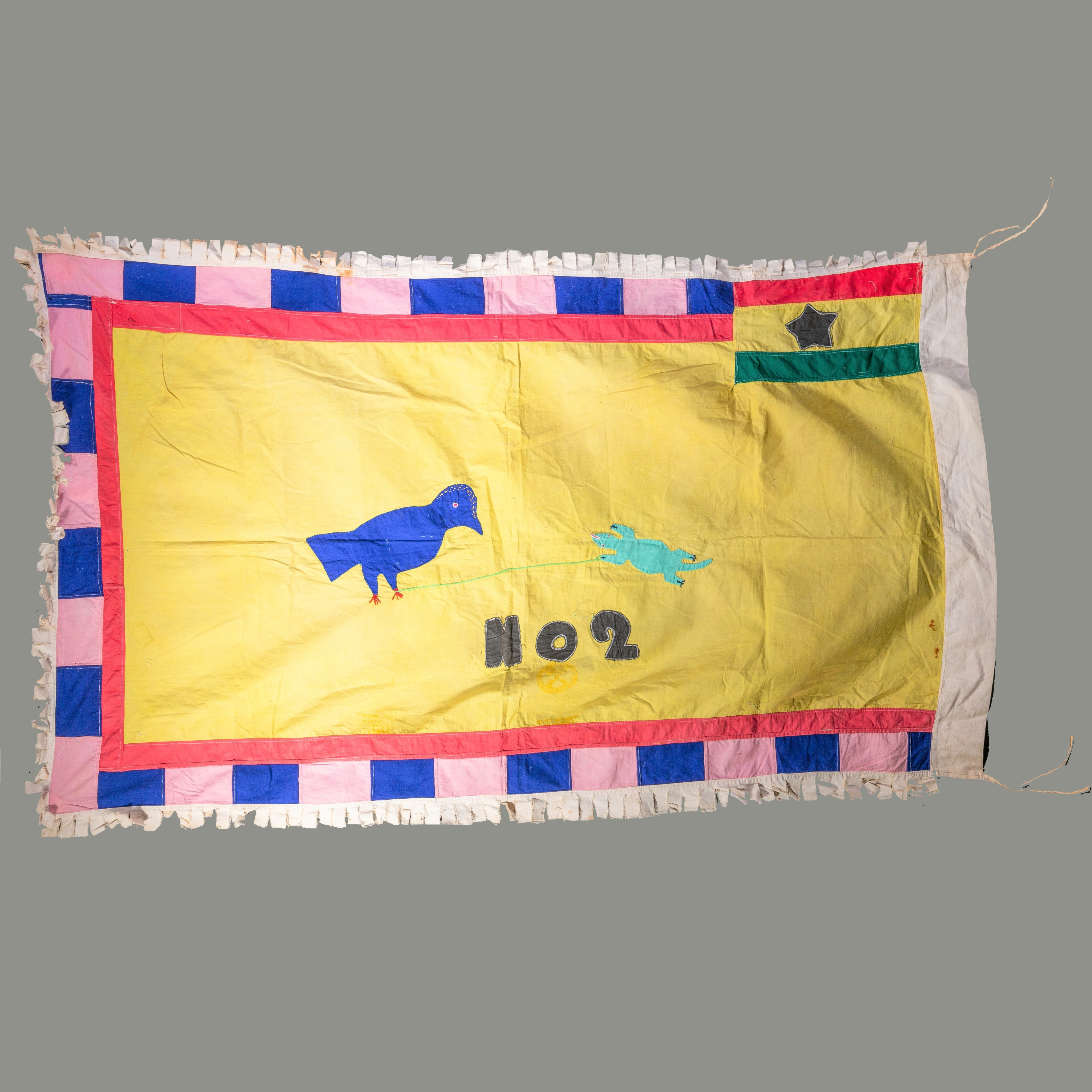 A POETIC FANTE FLAG WITH ANIMALS ( No 323 )
