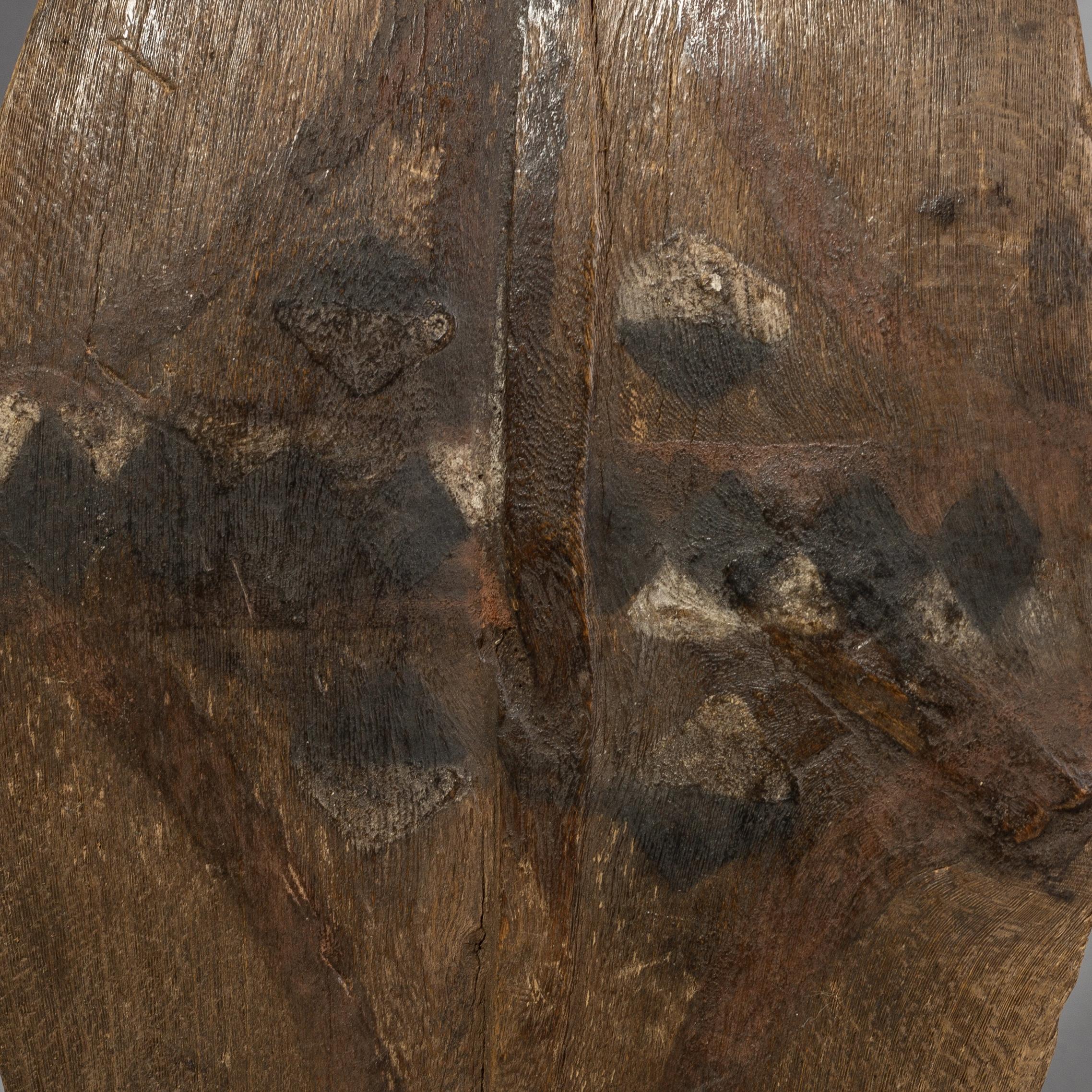 A SMALL LEAF SHAPED DANCE SHIELD FROM KIKUYU  TRIBE KENYA ( No 1497)