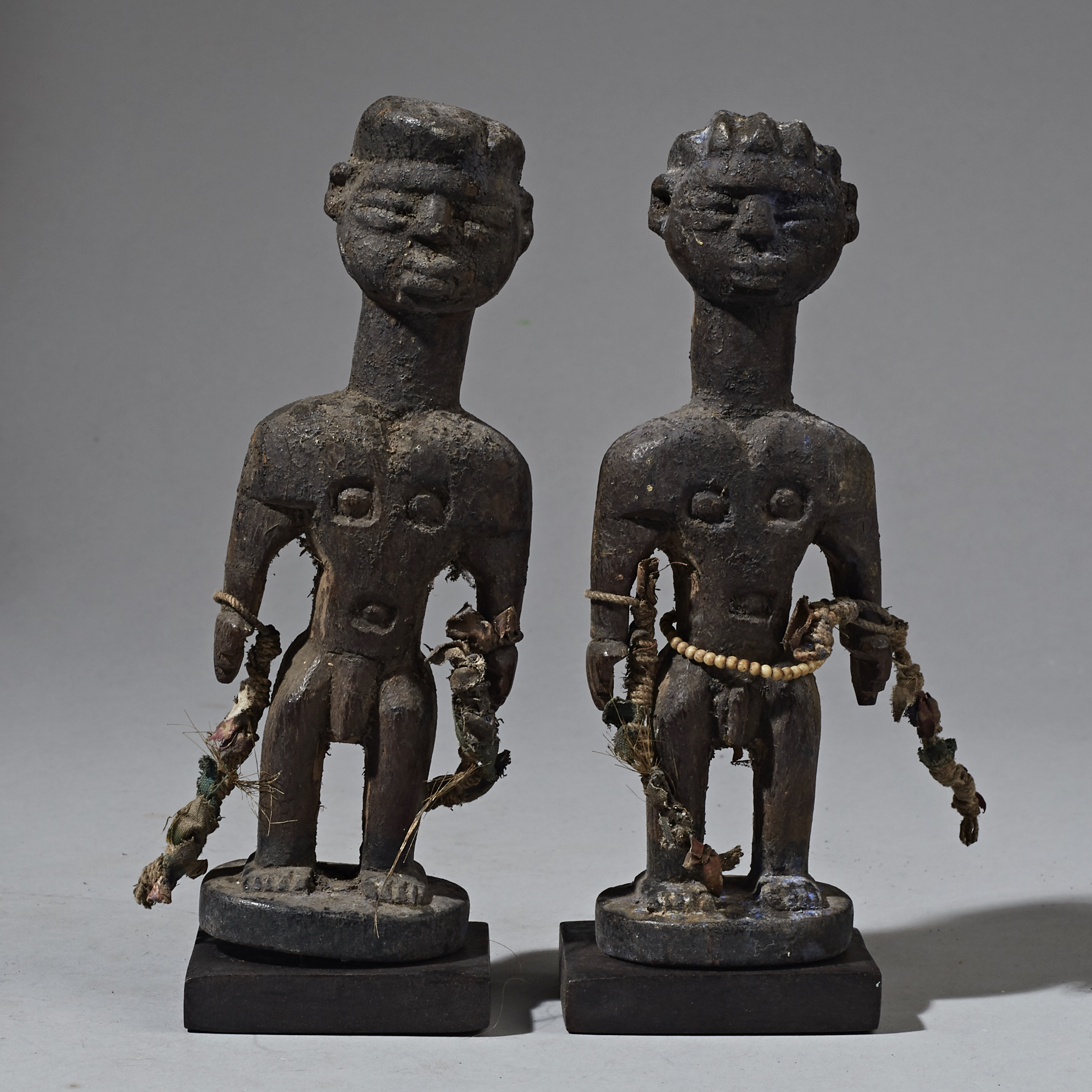 A  QUIRKY PAIR OF FON TRIBE STATUES FROM BENIN ( No 2295 )