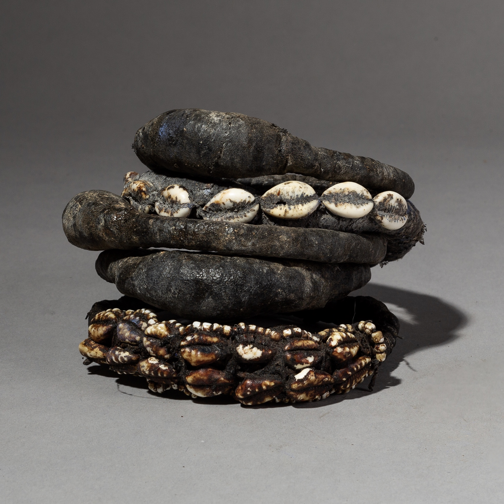 AN UNUSUAL GROUP OF 5 FETISH BRACELETS FROM THE FON TRIBE OF BENIN( No 2261 )