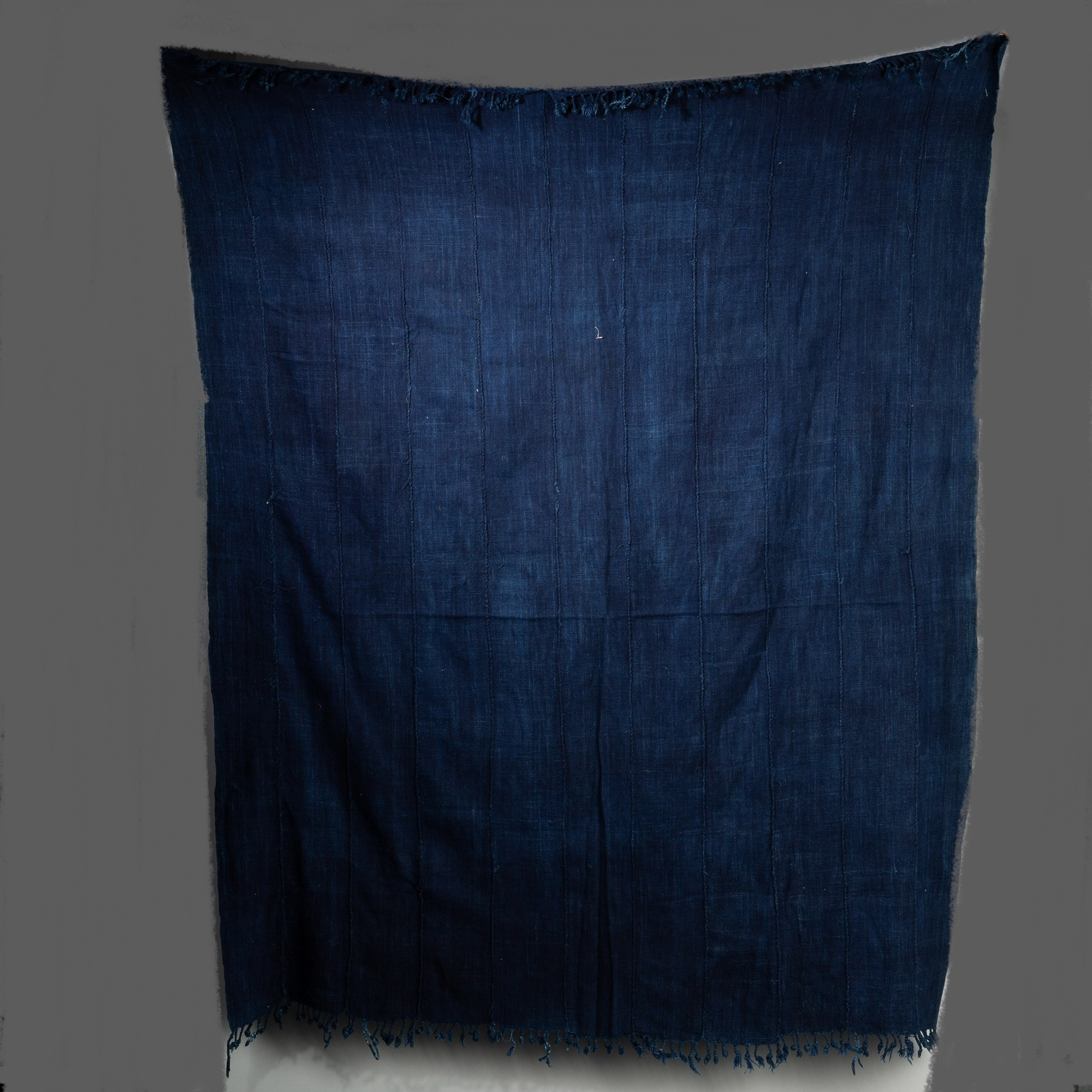 A SEA BLUE INDIGO CLOTH, MOSSI TRIBE BURKINA FASO ( No 3276 )