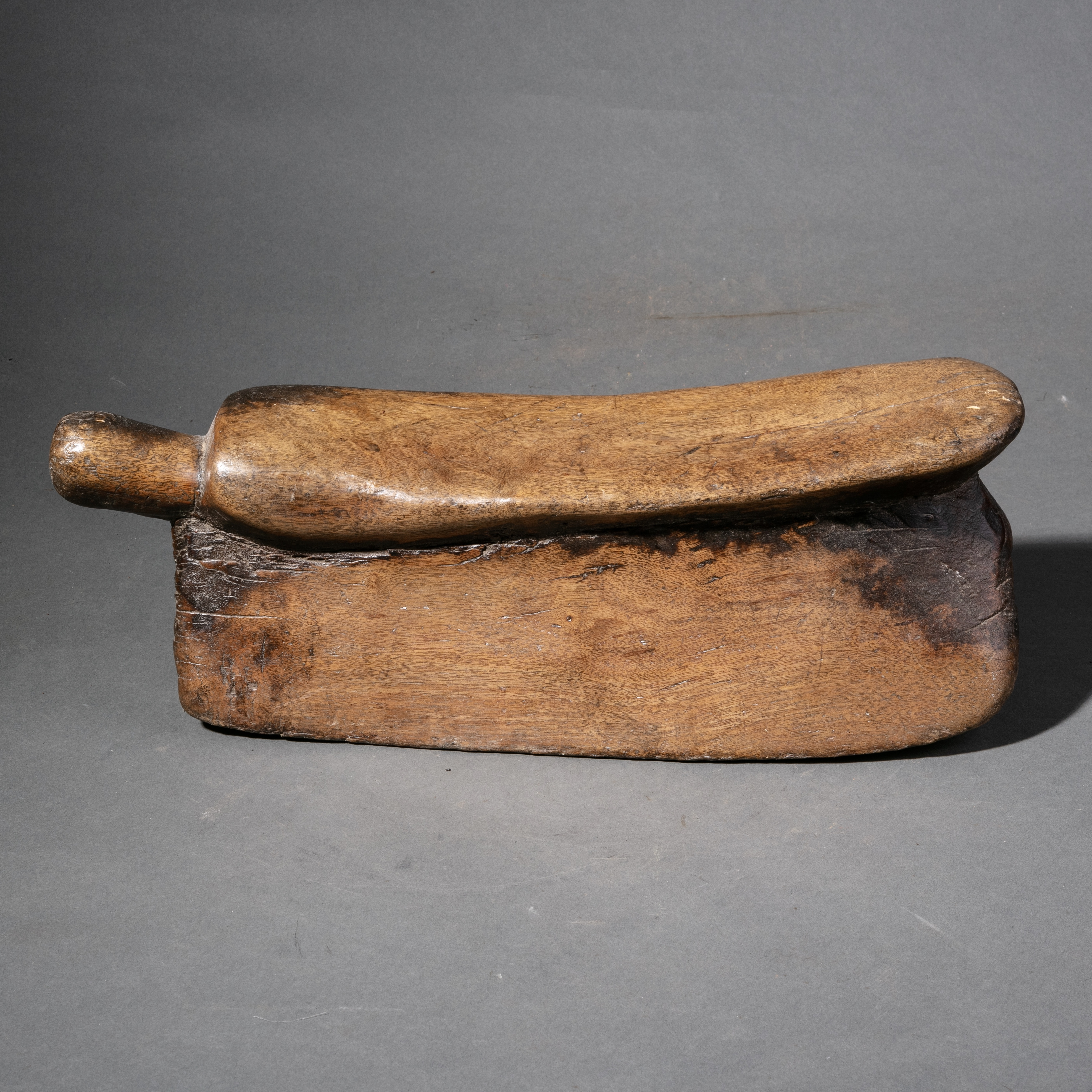 A PATINA RICH ETHIOPIAN HEADREST/STOOL ( No 953 )