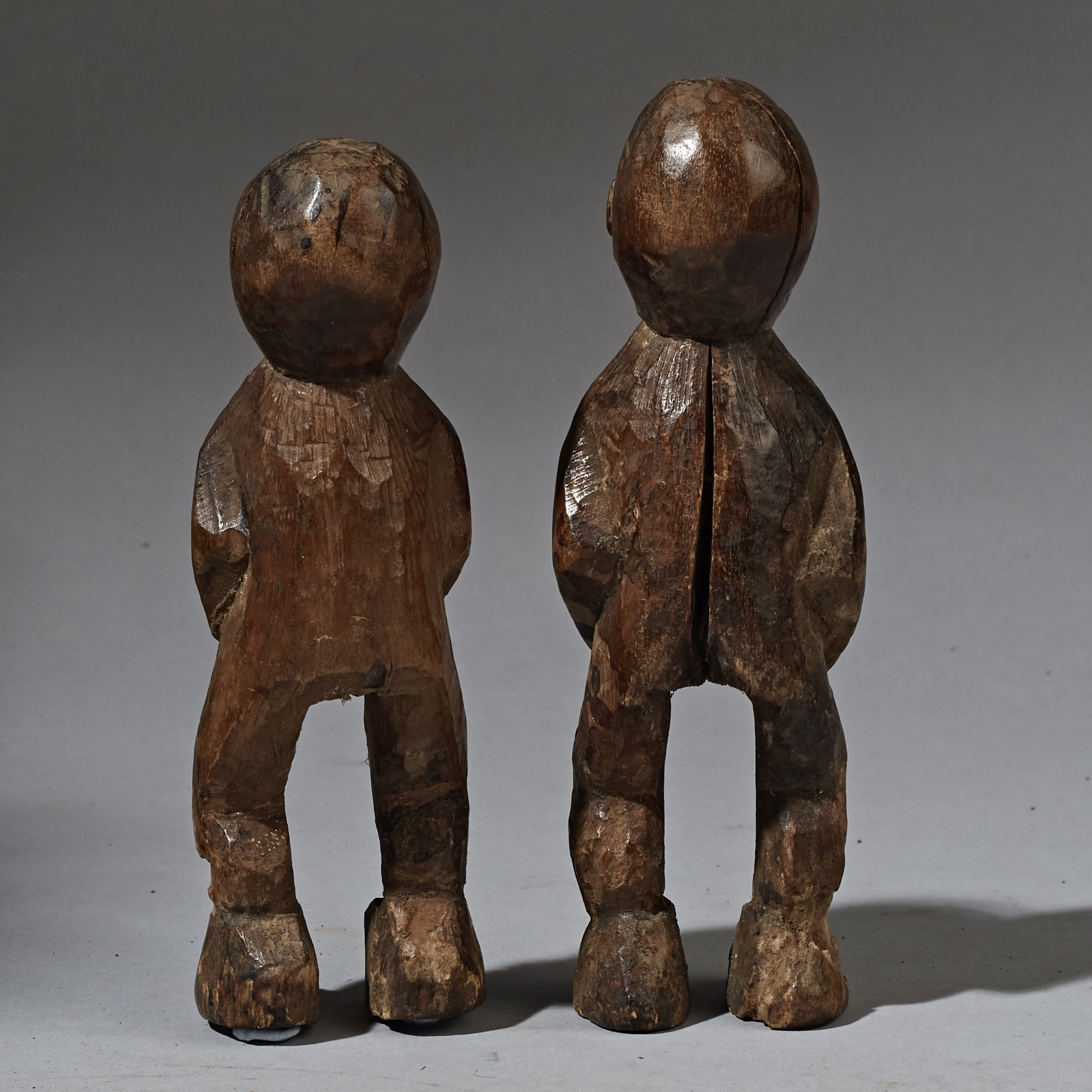 SD A SCULPTURAL PAIR OF LAMBA TRIBE STATUES NORTHERN  TOGO  ( No 2293 )